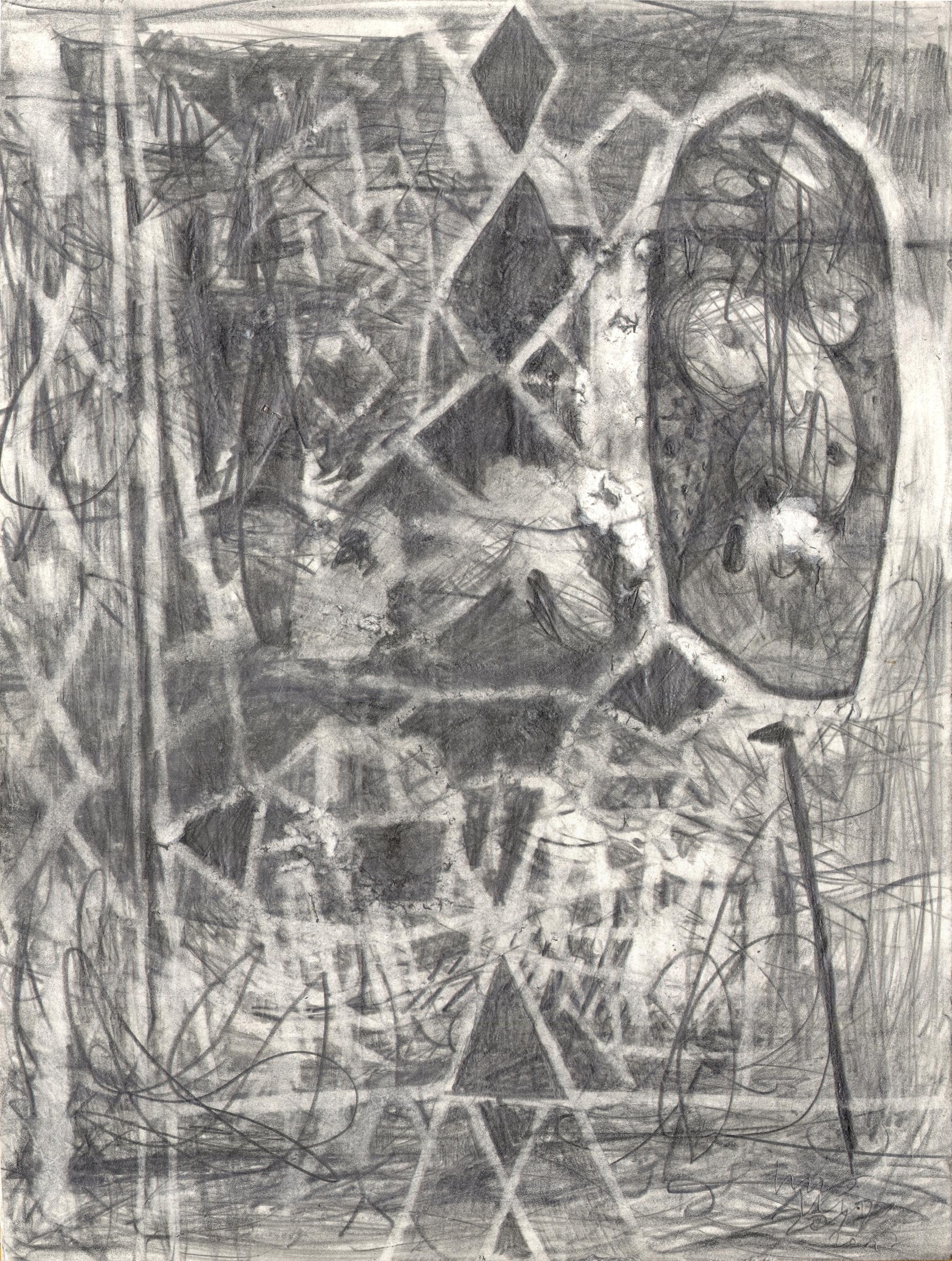 O.T. ( Figur II ), 2017  Bleistift auf Papier, 26x35.5cm