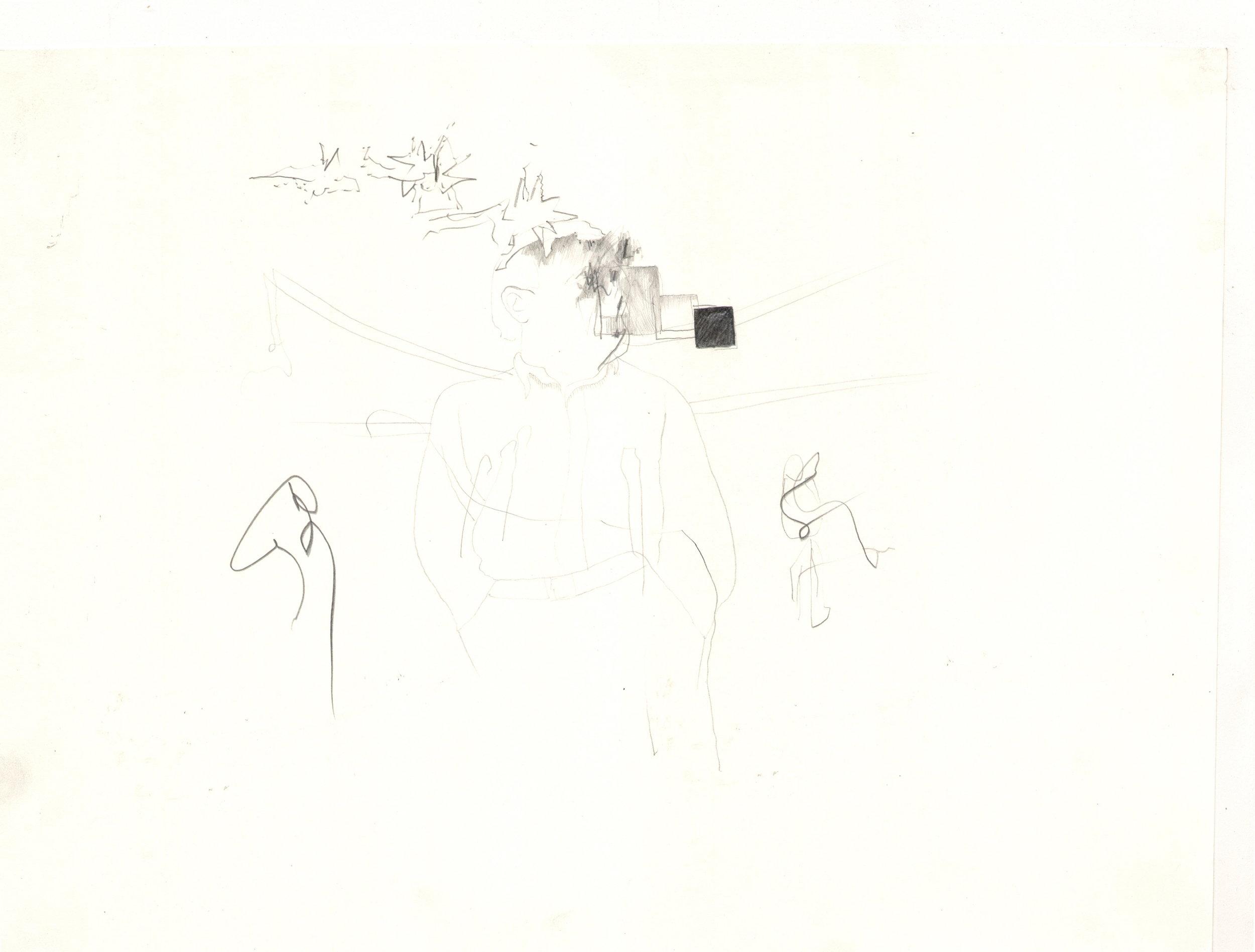 O.T. ( .... ), 2006  Bleistift auf Papier, 26x35.5cm