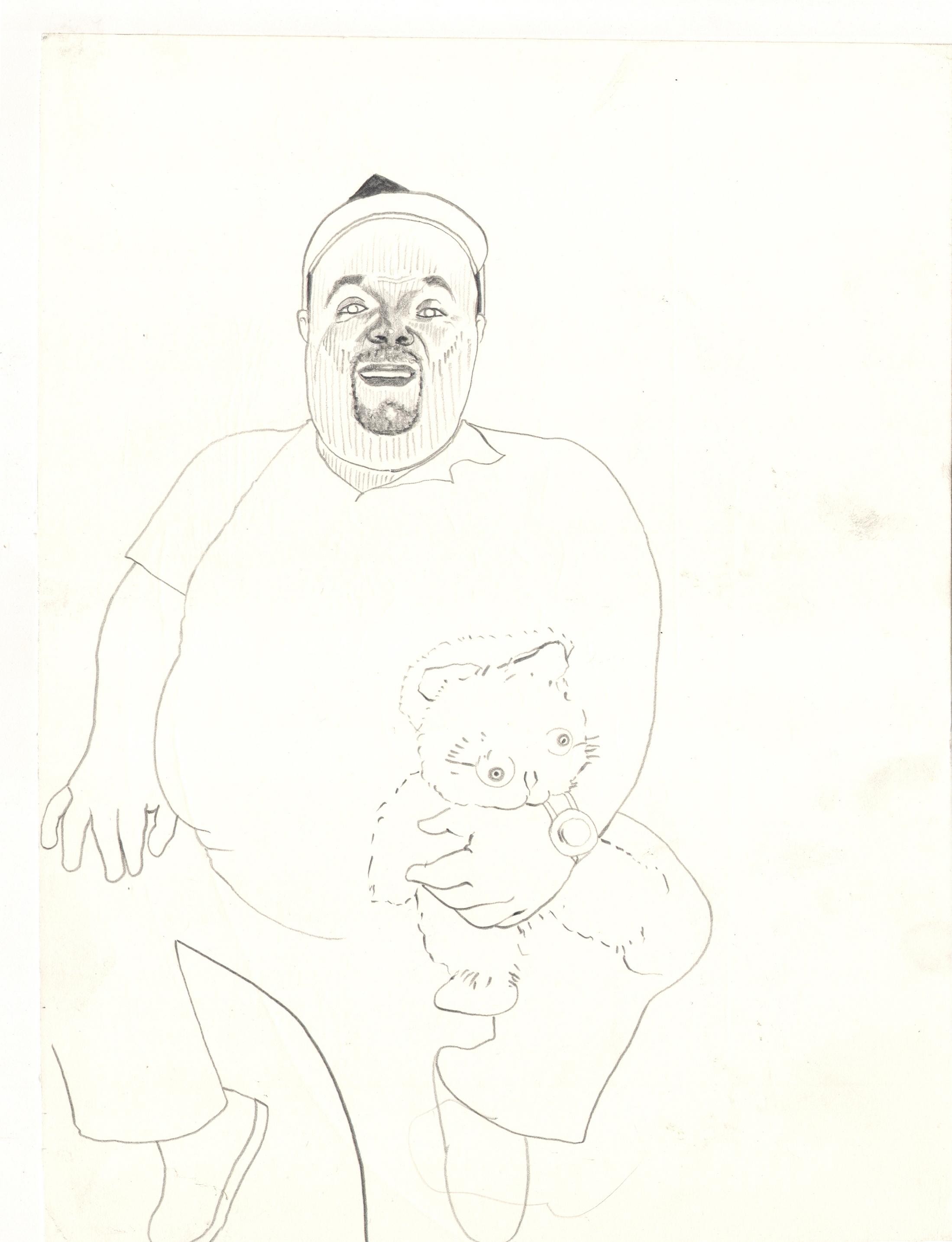 O.T. ( Dirk Bach ), 2006  Bleistift auf Papier, 26x35.5cm