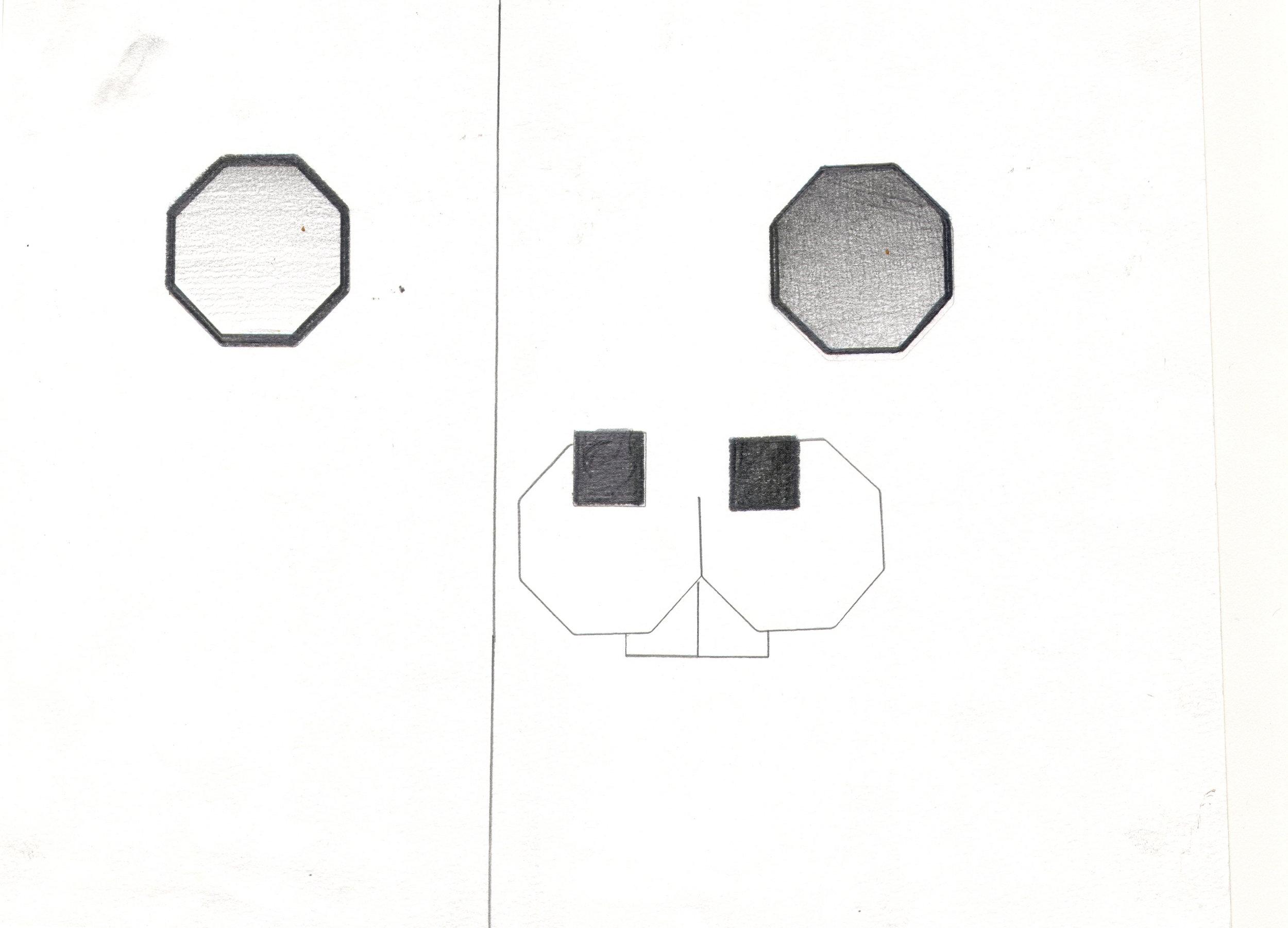 O.T. ( Geometric Rabbit ), 2006  Bleistift auf Papier, 26x35.5cm
