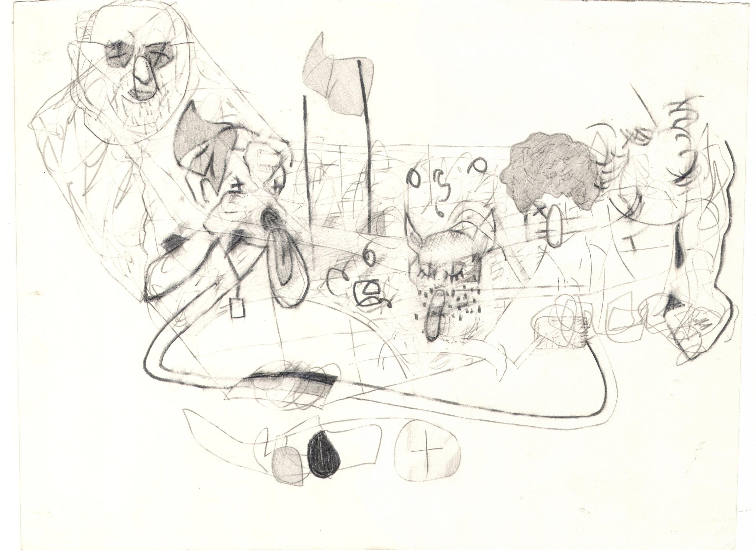 O.T. ( Konstellation ), 2006  Bleistift auf Papier, 26x35.5cm