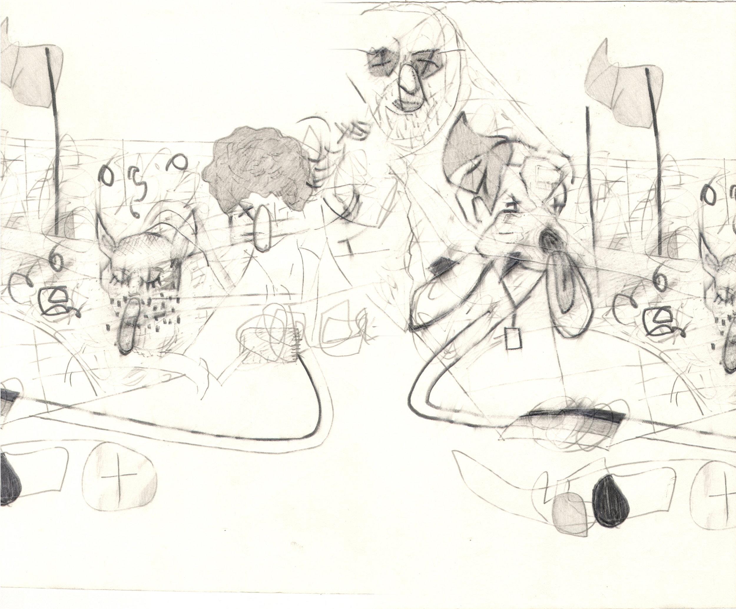 O.T. ( Scanfehler ), 2006  Bleistift auf Papier, 26x35.5cm