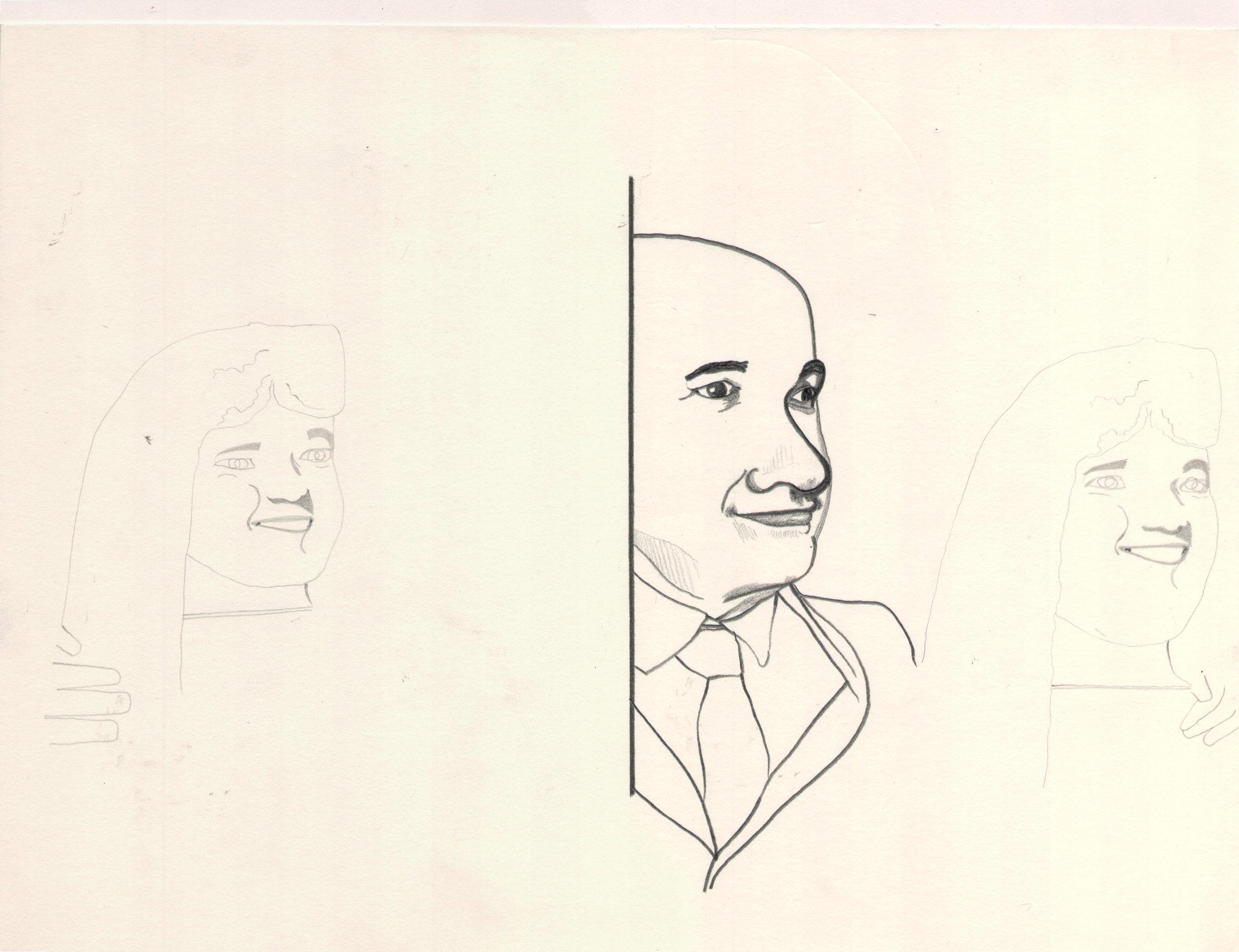 O.T. ( sCHÖNBERGl ), 2006  Bleistift auf Papier, 26x35.5cm