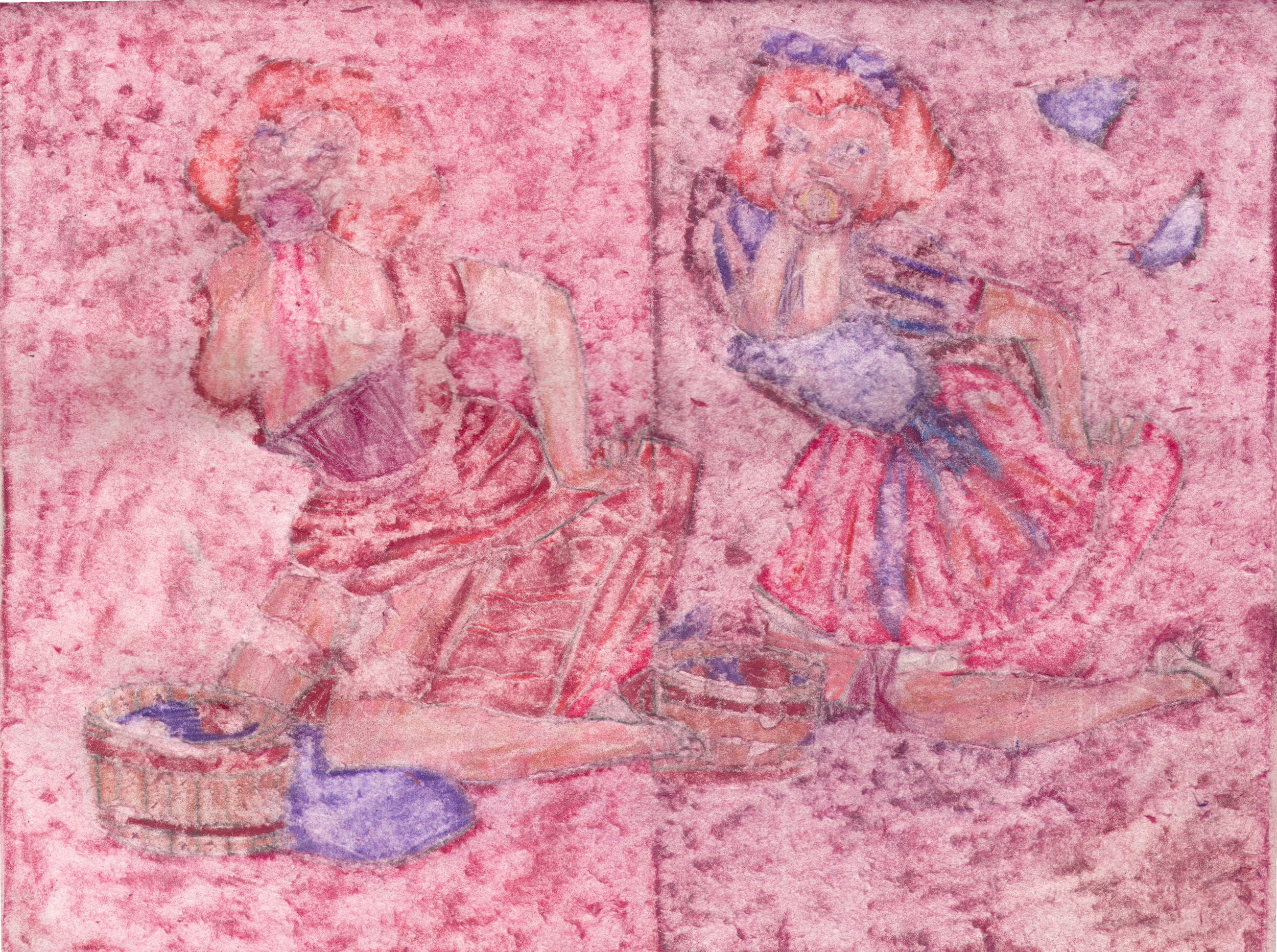 O.T. ( Pinup Fairy Tale III ), 2019  Buntstift auf Papier, 26x35.5cm