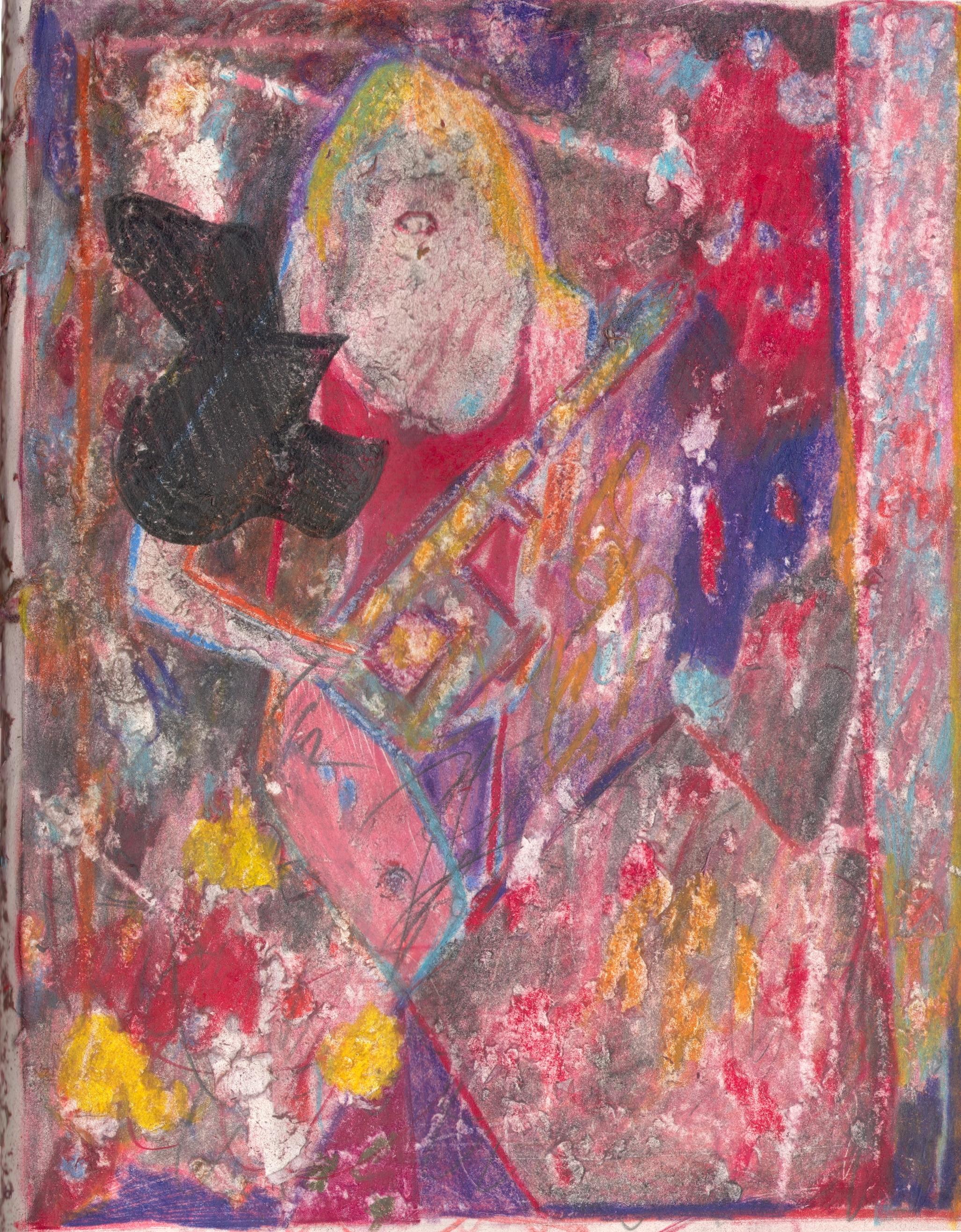 O.T. ( Pinup Makita ), 2019  Buntstift auf Papier, 26x35.5cm