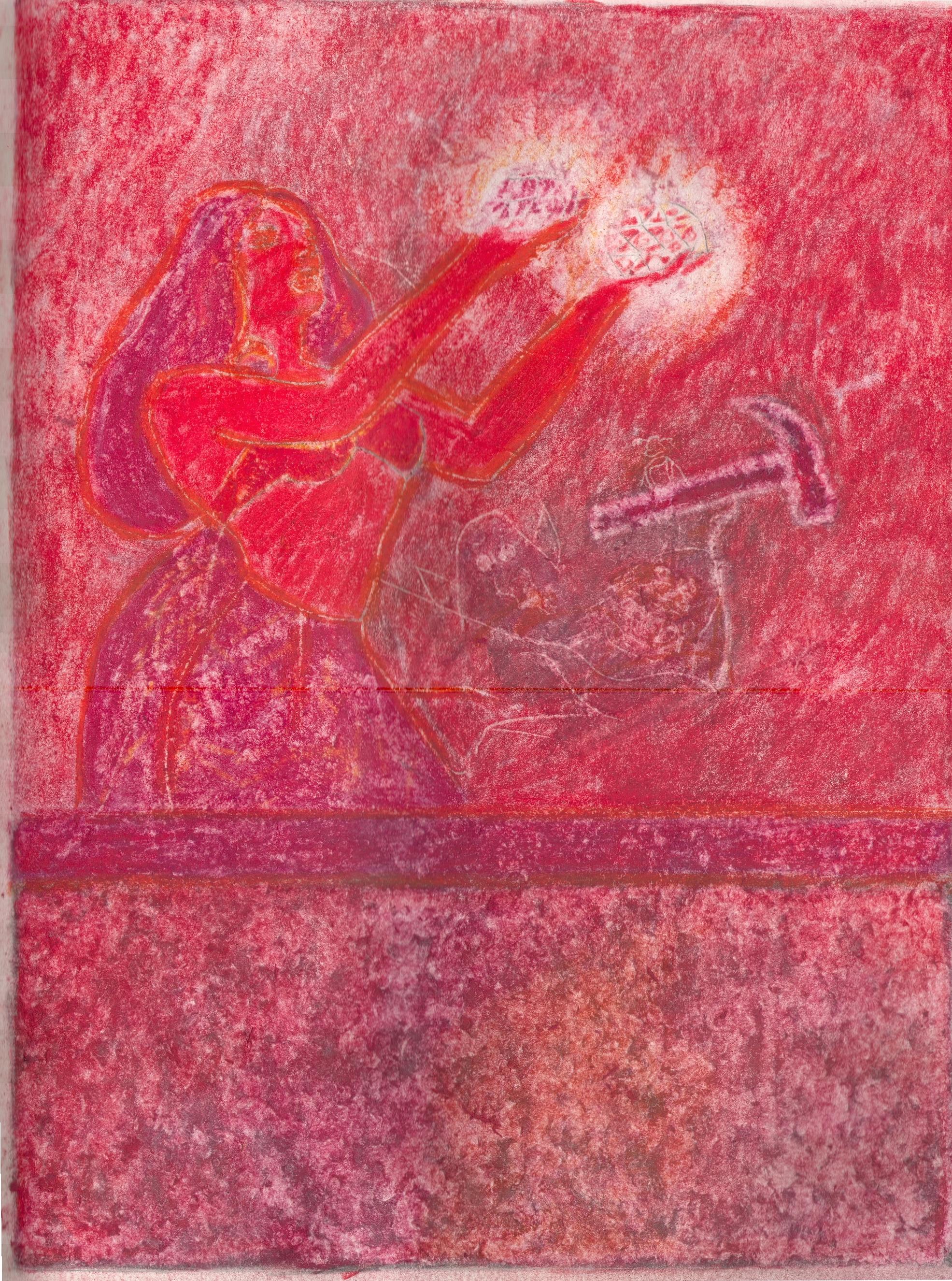 O.T. ( Pinup Minerals ), 2019  Buntstift auf Papier, 26x35.5cm