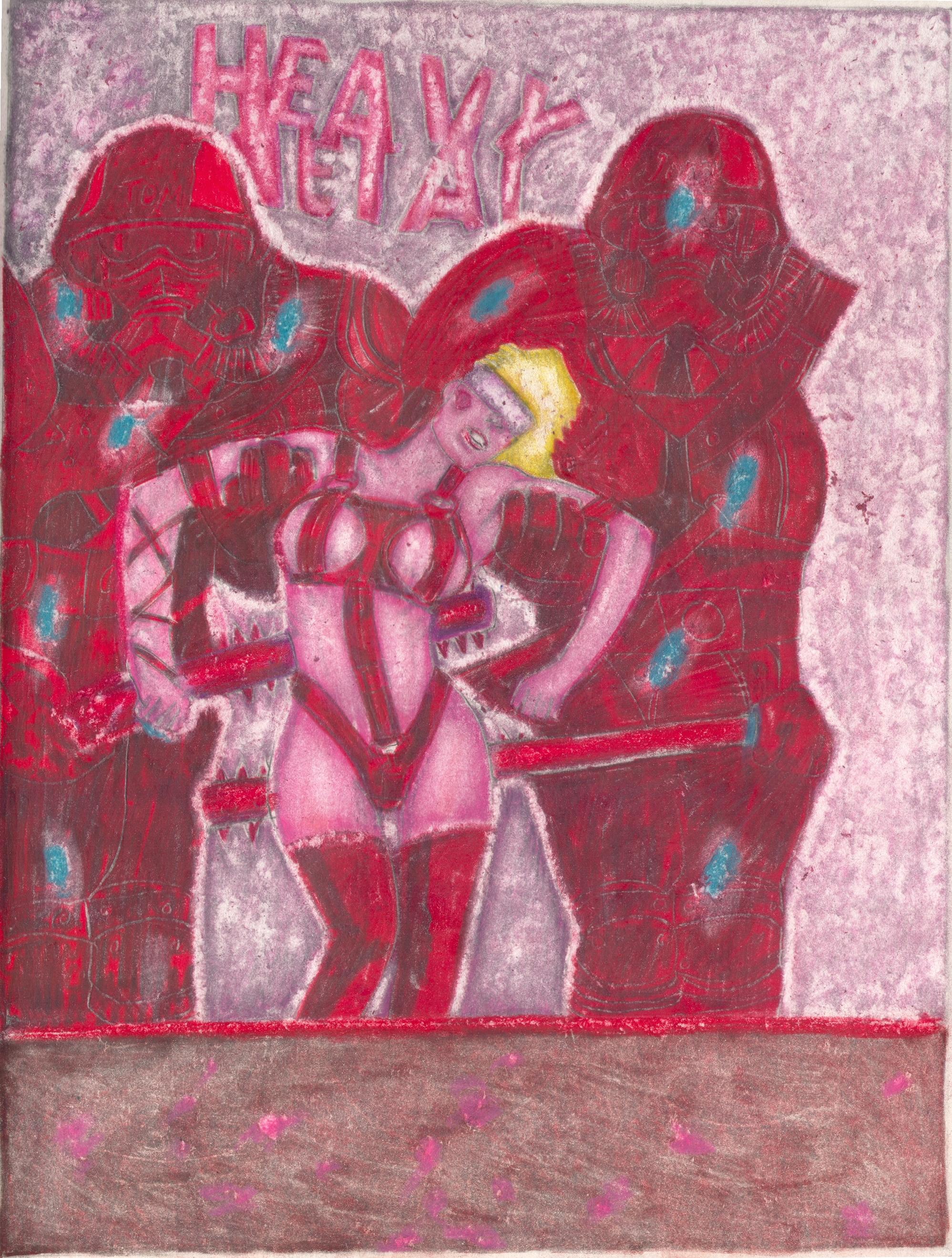 O.T. ( Fantasy Heavy Metall Cover ), 2019     Buntstift auf Papier, 26x35.5cm