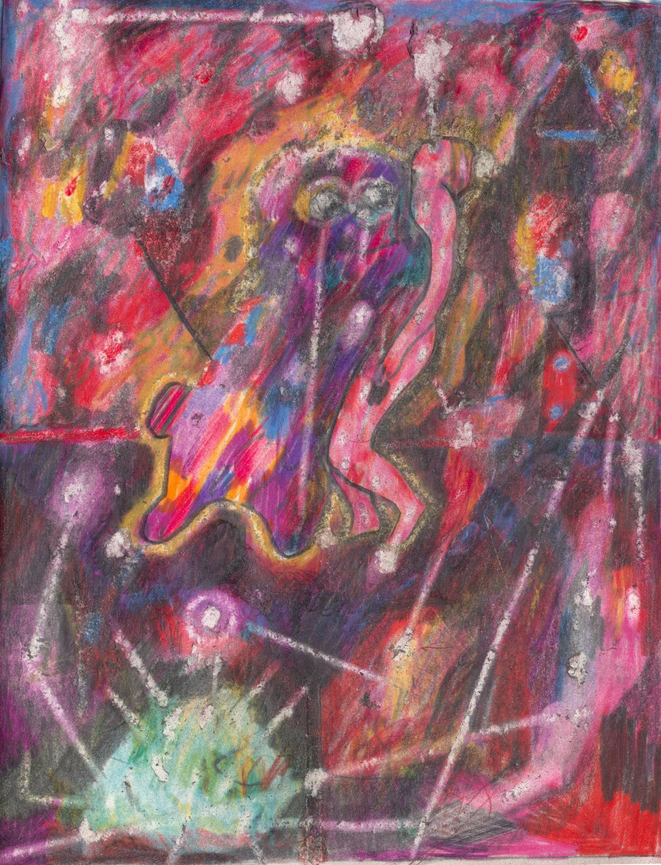 O.T. ( Dorothea Tanning ), 2019  Buntstift auf Papier, 26x35.5cm