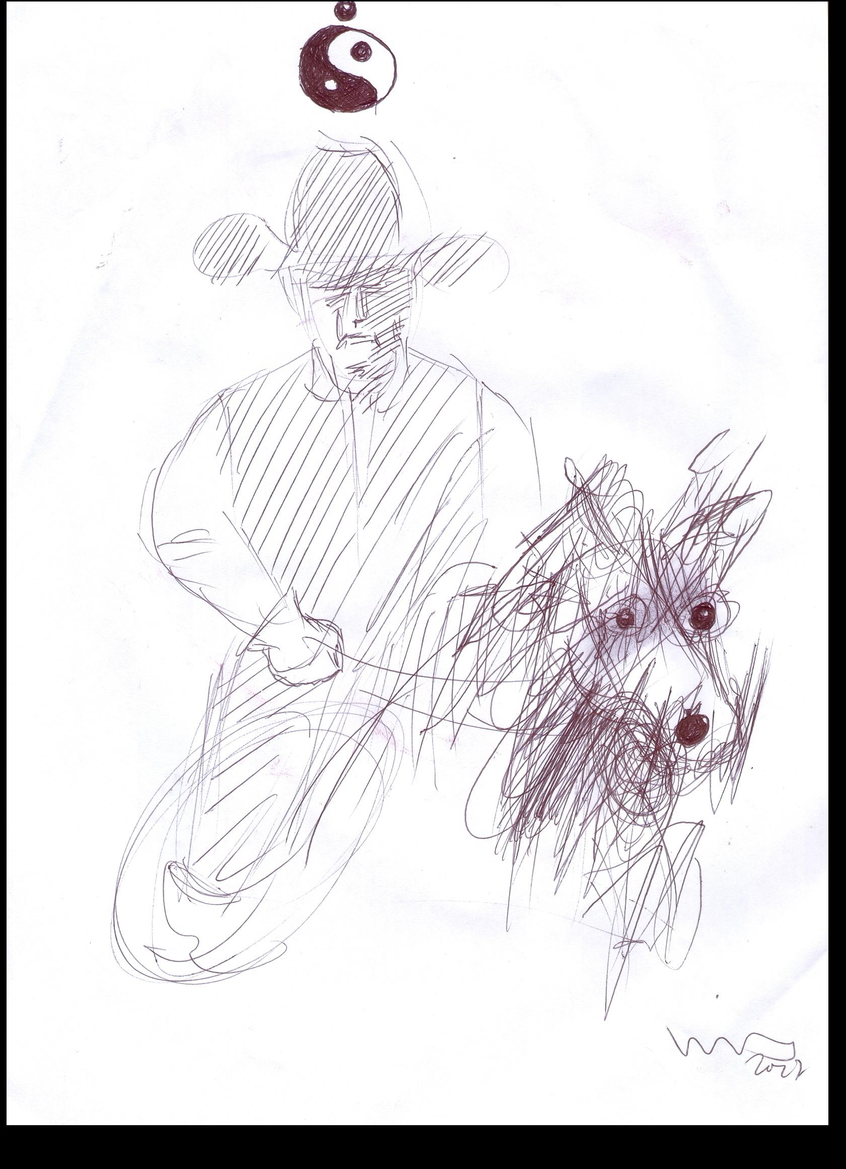 O.T. ( cowboy ), 2017  Kugelschreiber Papier, 29.8x21cm