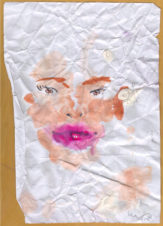 O.T. ( Portrait ), 2017  Tempera Papier, 29.8x21cm