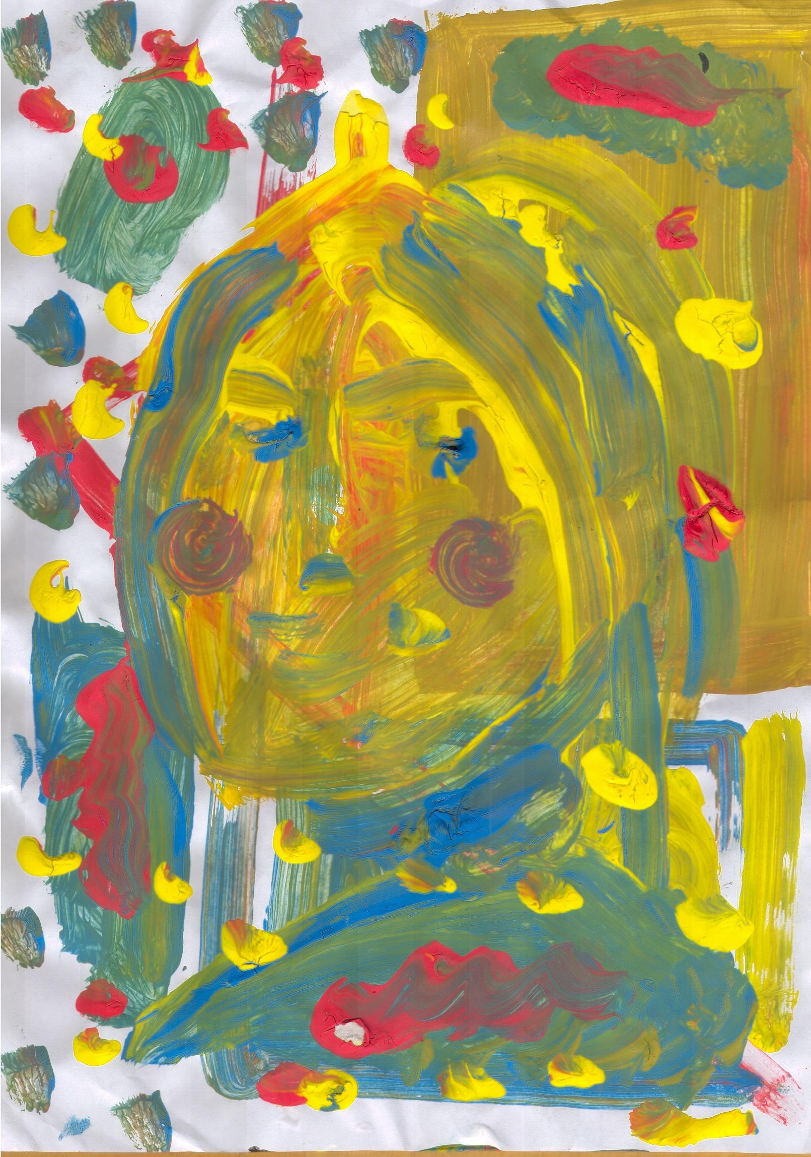O.T. ( Portrait II ), 2017  Tempera Papier, 29.8x21cm