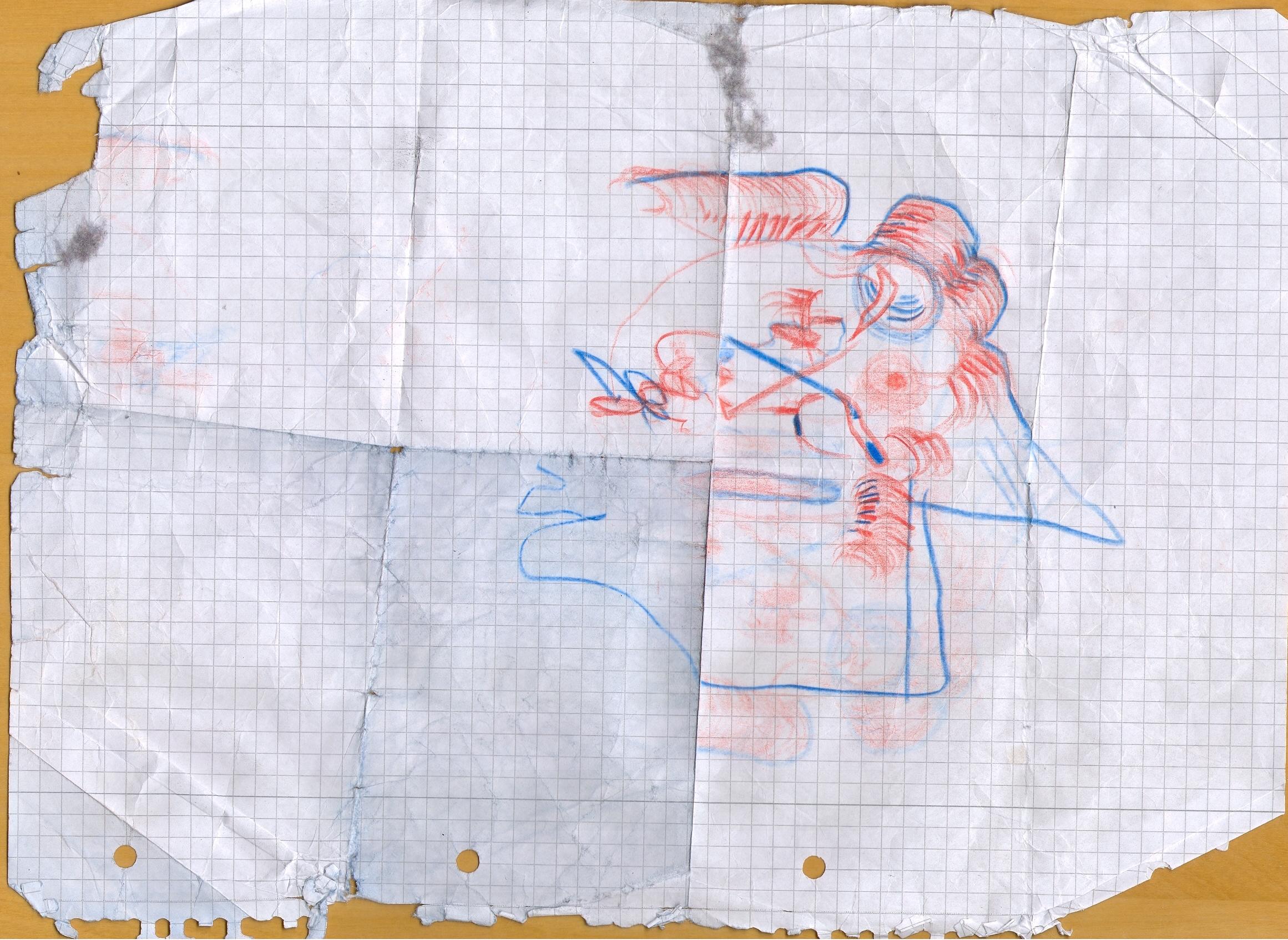 O.T., 2015  Buntstift Papier, 29.8x21cm