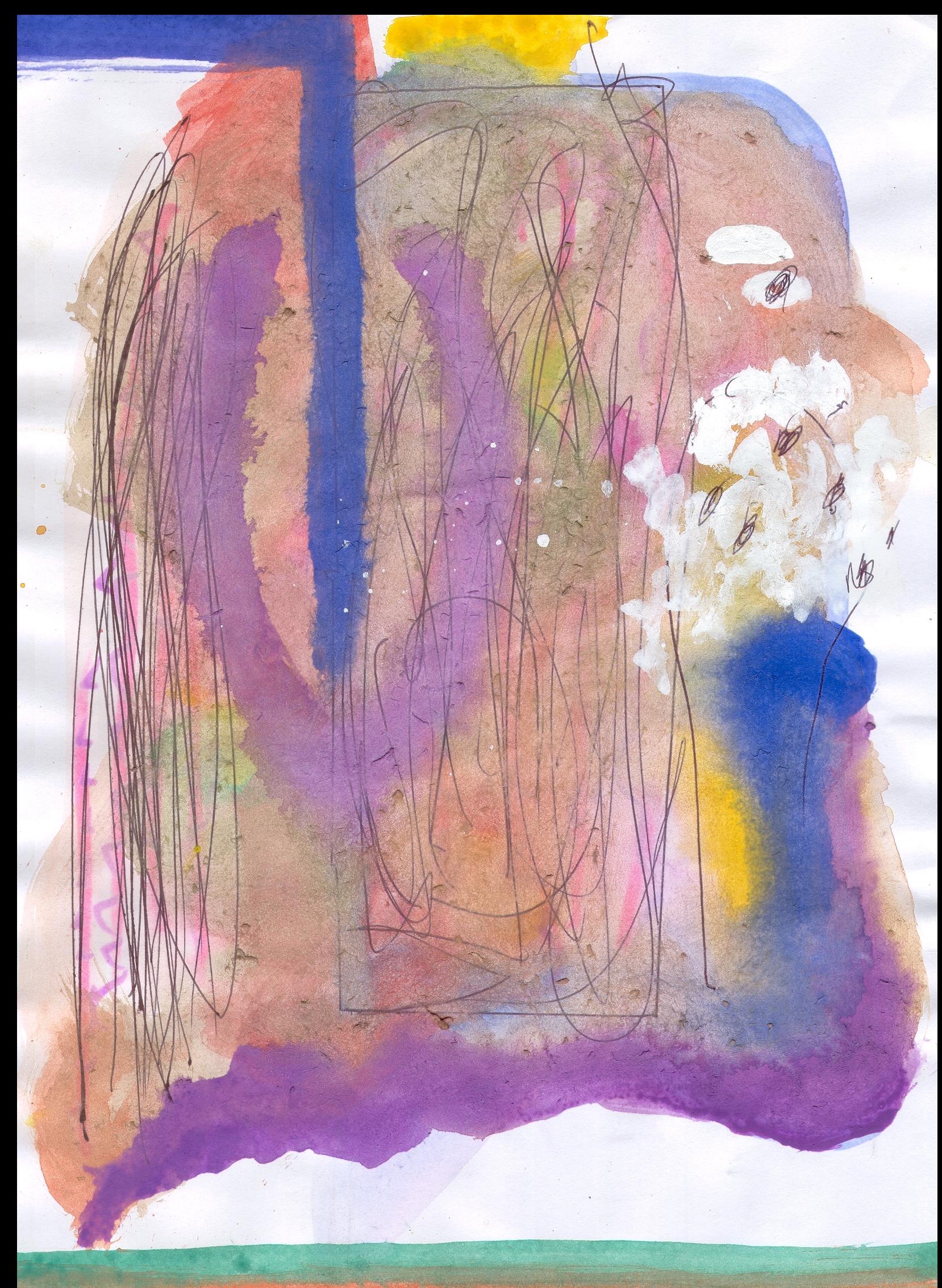 O.T. ( Gott ), 2015  Tempera Bleistift Papier, 29.8x21cm