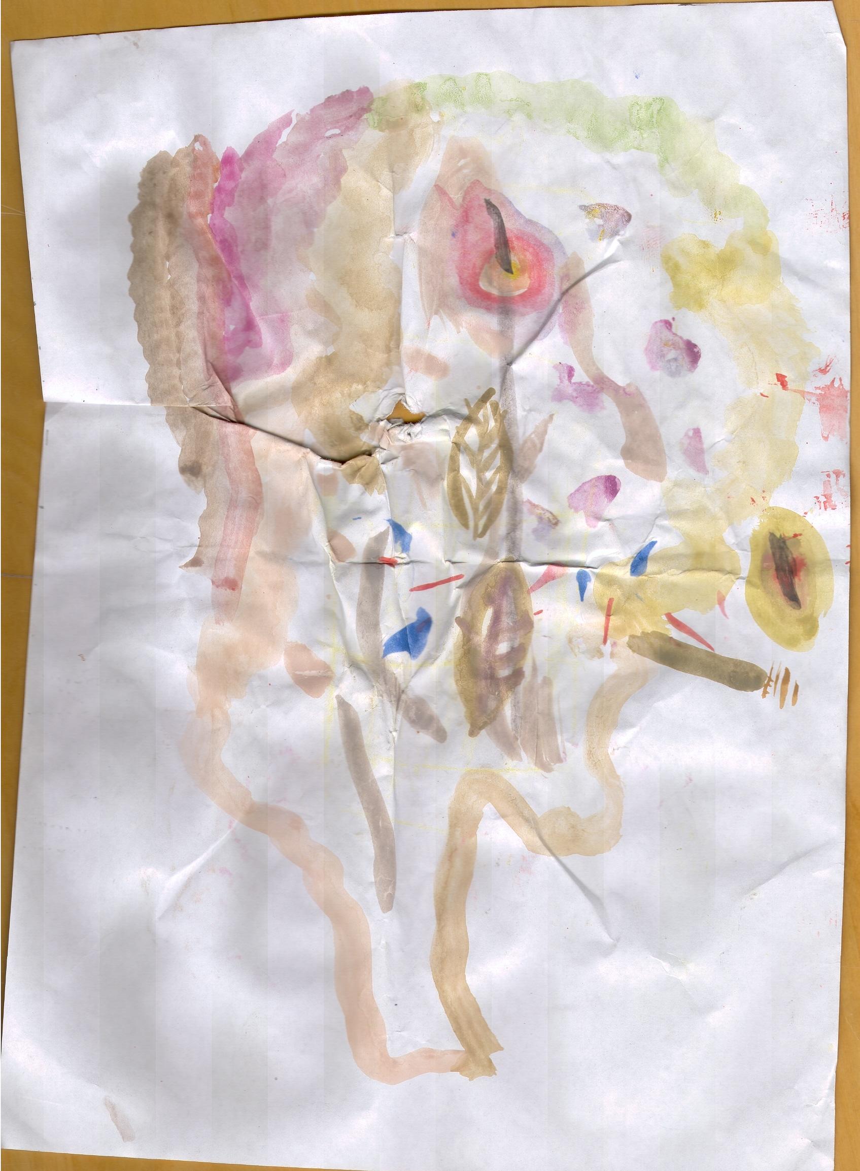O.T. ( Nikotin ), 2015  Tempera Papier, 29.8x21cm