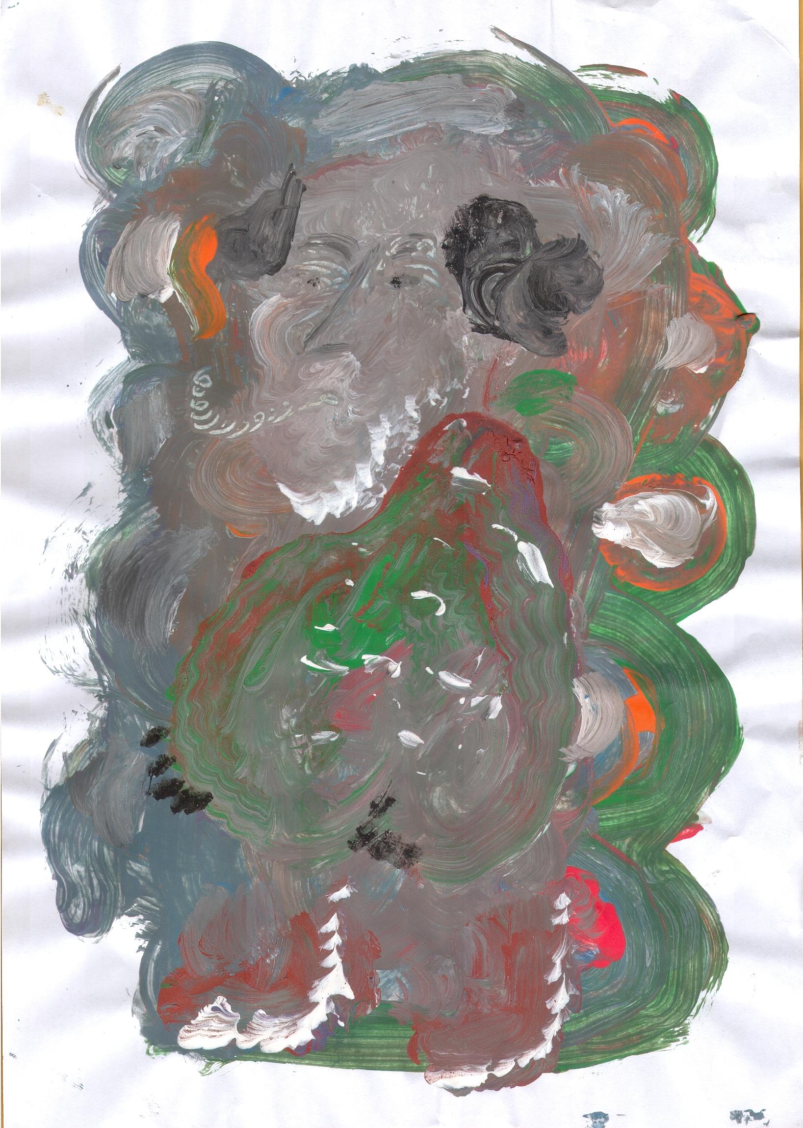 O.T. ( Gefäß ), 2015  Tempera Papier, 29.8x21cm