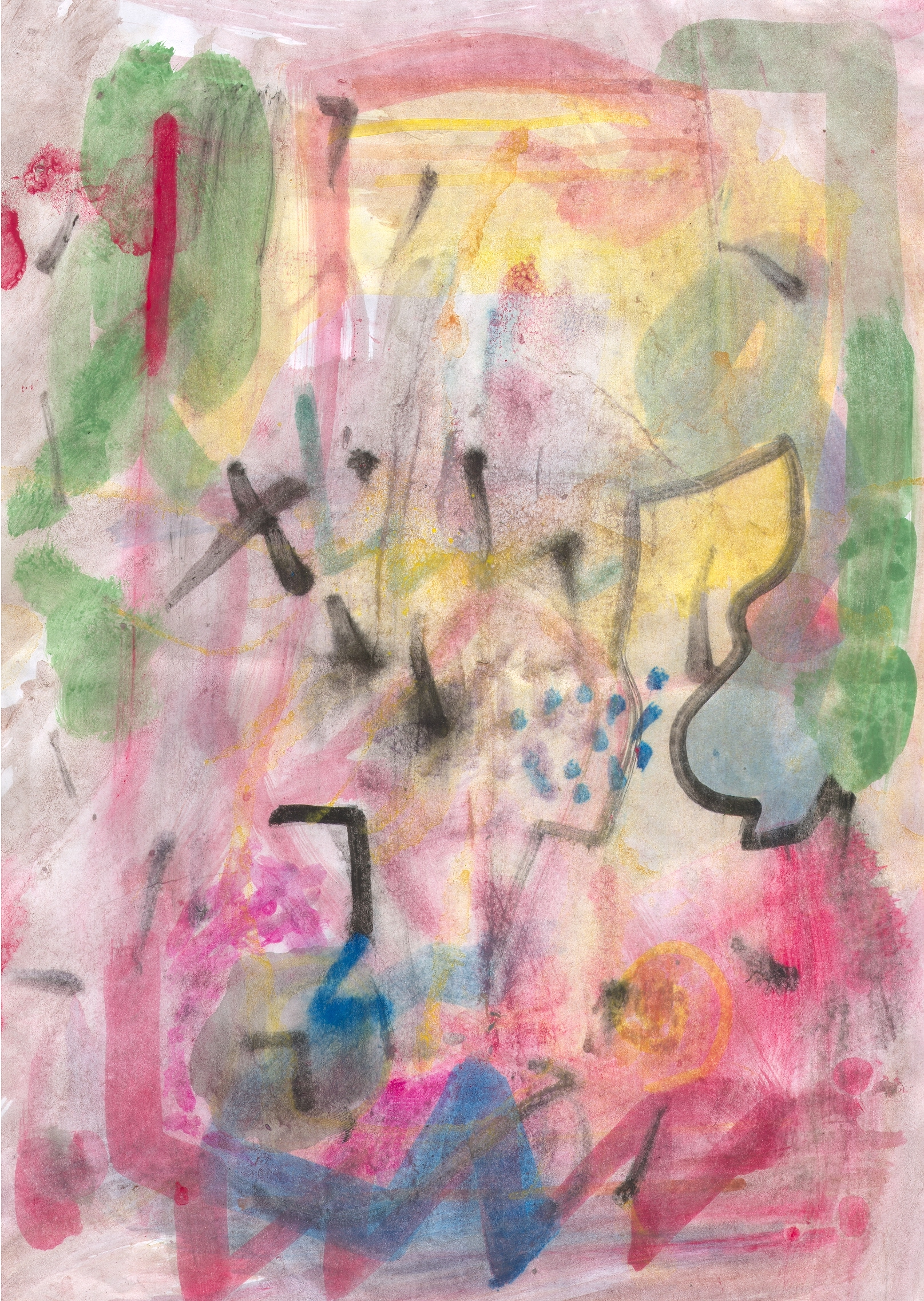 O.T. ( abstract composition ), 2015  Tempera Papier, 29.8x21cm
