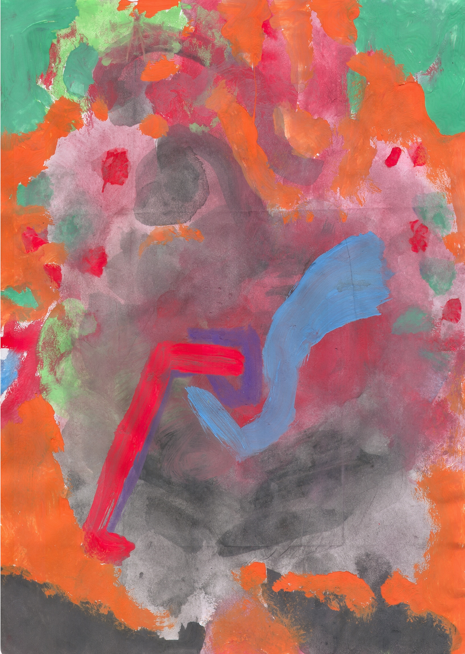 O.T. ( Komposition II ), 2015  Tempera Papier, 29.8x21cm