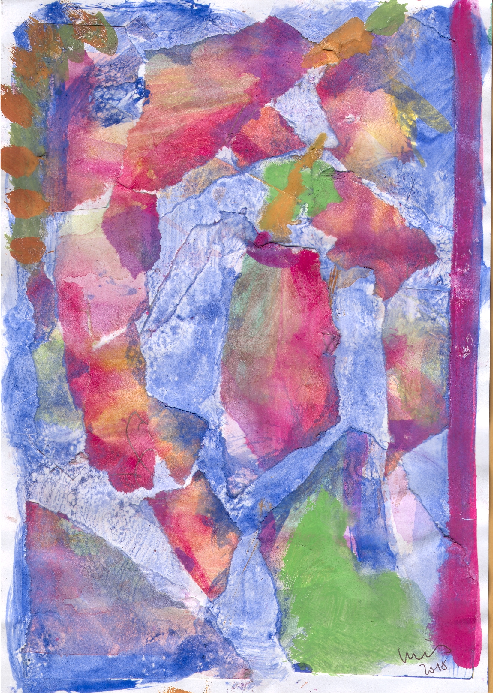 O.T. ( Komposition ), 2015  Tempera Papier, 29.8x21cm