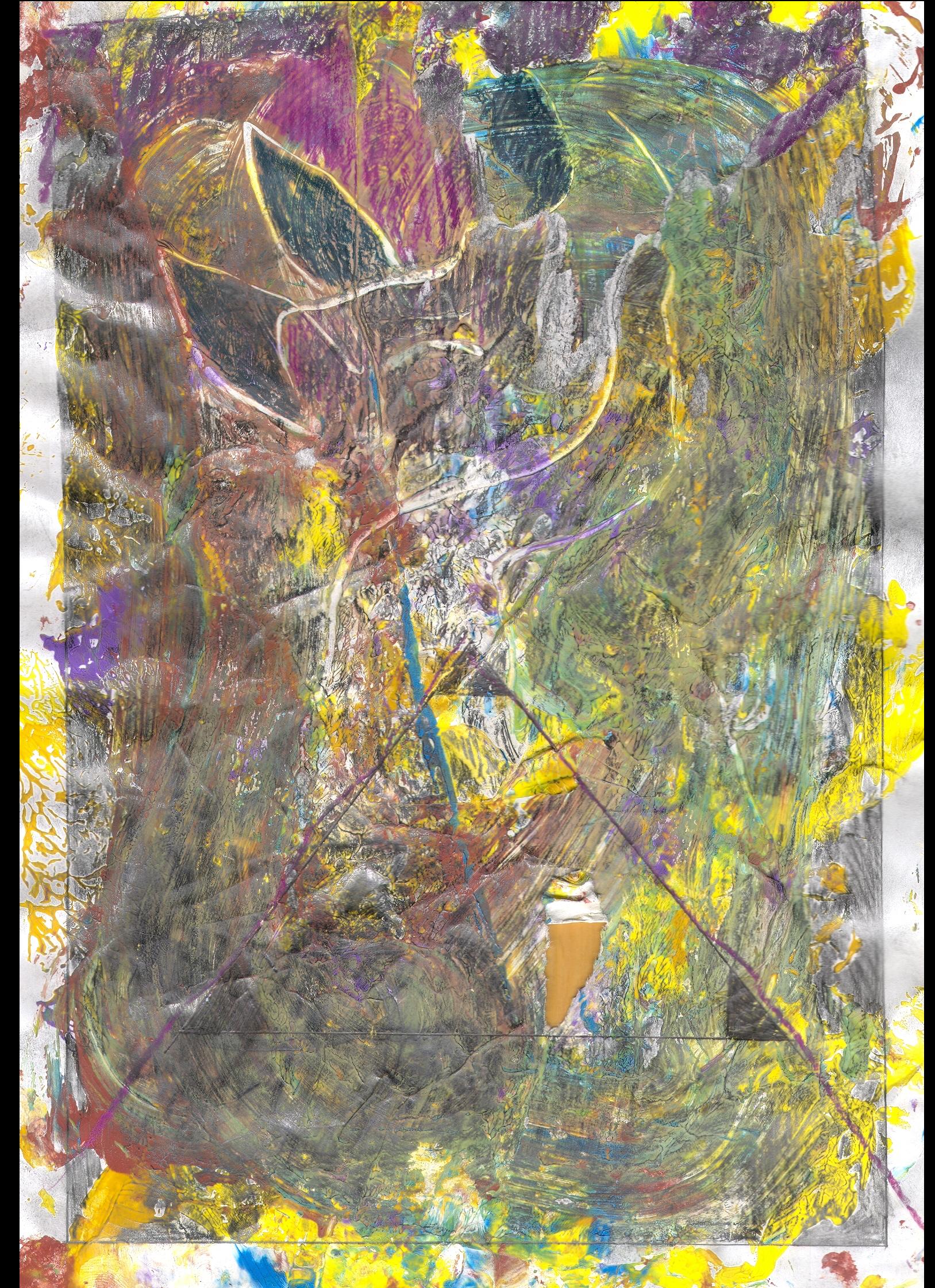 O.T. ( Flora ), 2018  Tempera Bleistift Buntstift Papier, 29.8x21cm