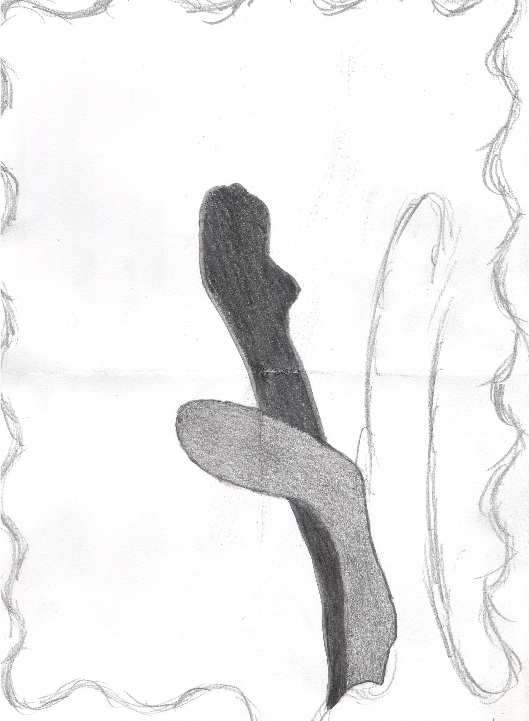 O.T. ( Gefäße ), 2018  Bleistift Papier, 29.8x21cm