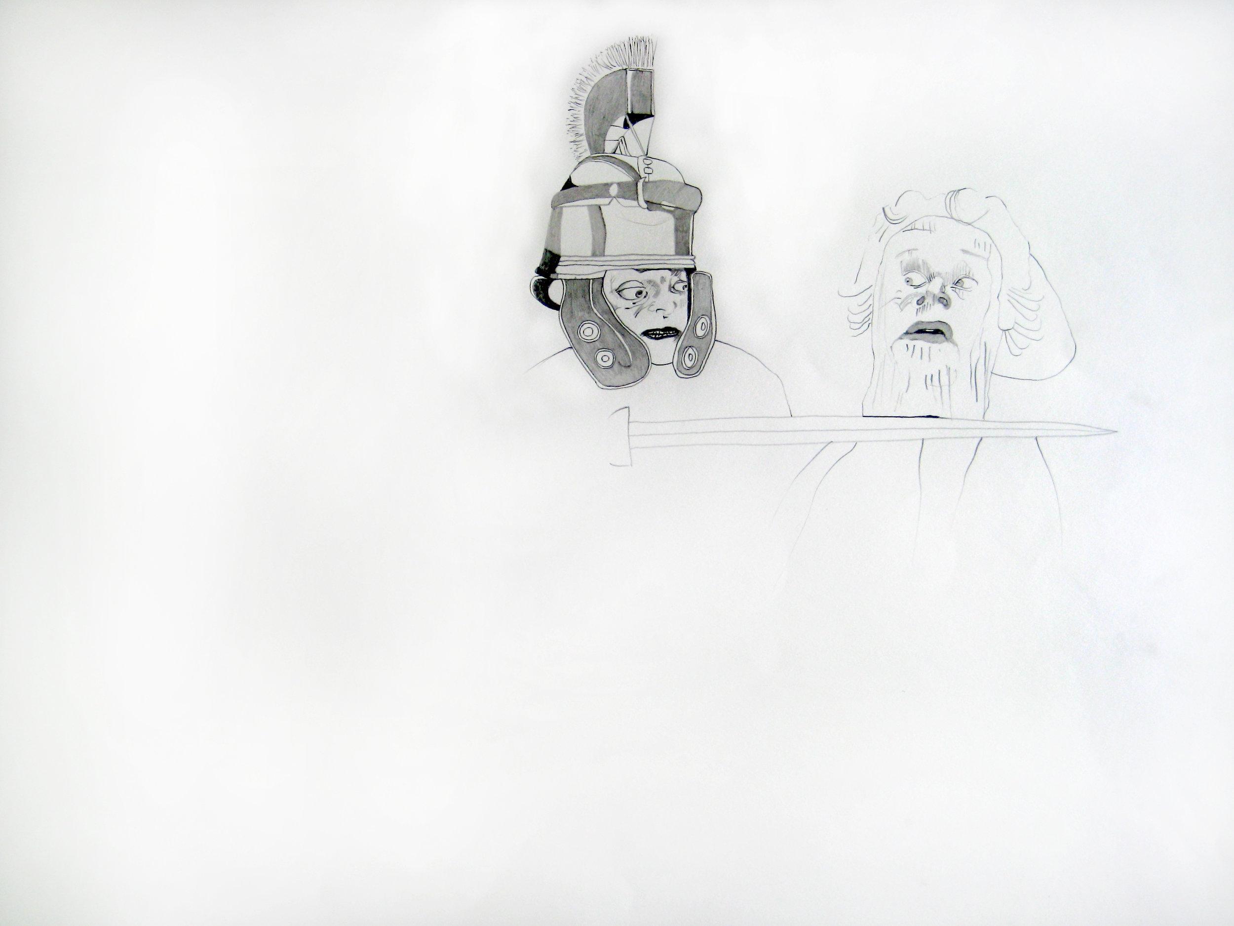 O.T. ( Ritter Frau ), 2005  Bleistift auf Papier, 26.5x35cm