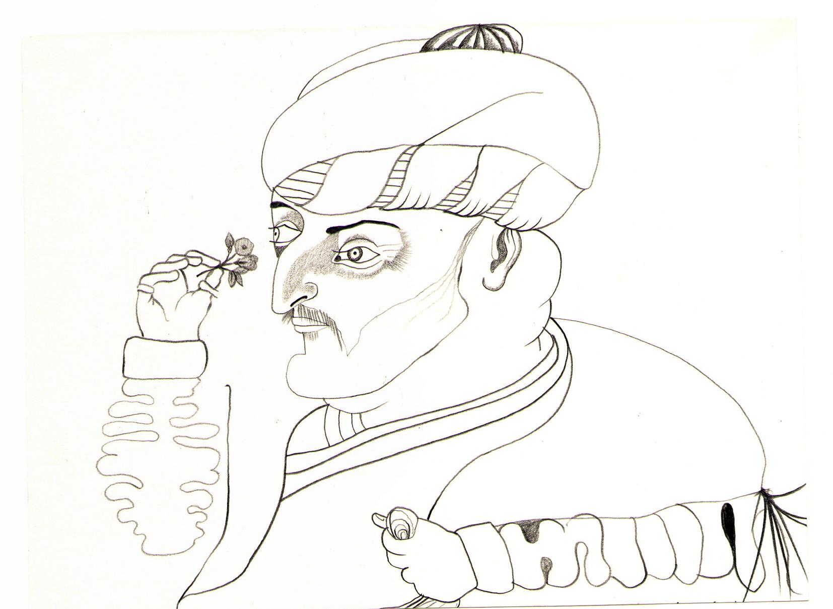 O.T. ( arab uno ), 2008  Bleistift auf Papier, 26.5x35.5cm
