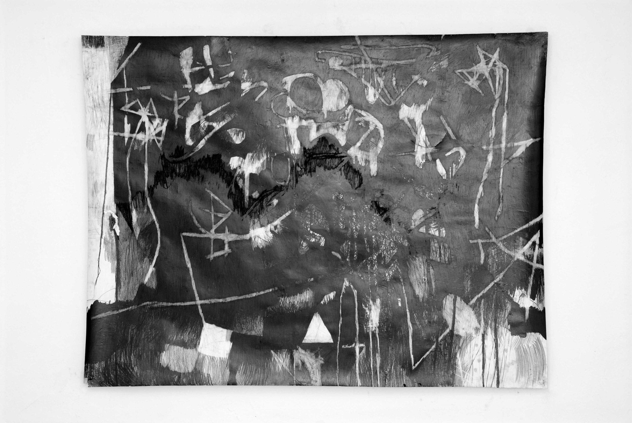 O.T. ( abstr symblsm ), 2005  Bleistift auf Papier, 150x200cm