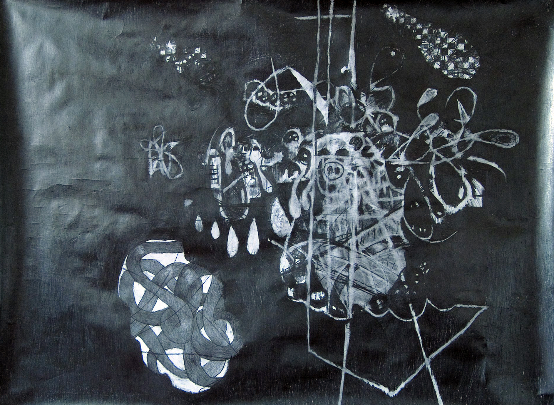 O.T., 2005  Bleistift auf Papier, 150x200cm