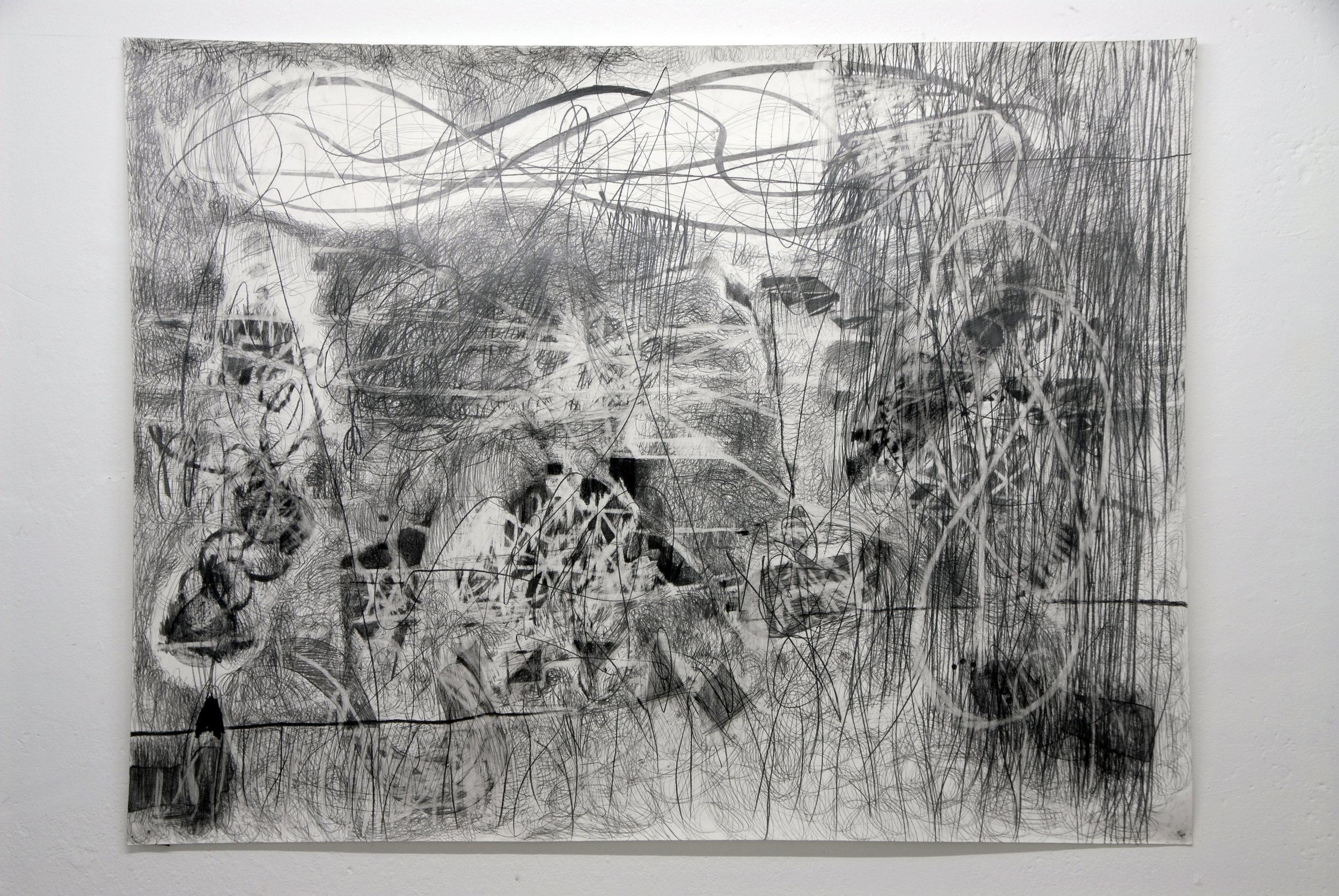 O.T. ( ephemer ), 2005  Bleistift auf Papier, 150x200cm