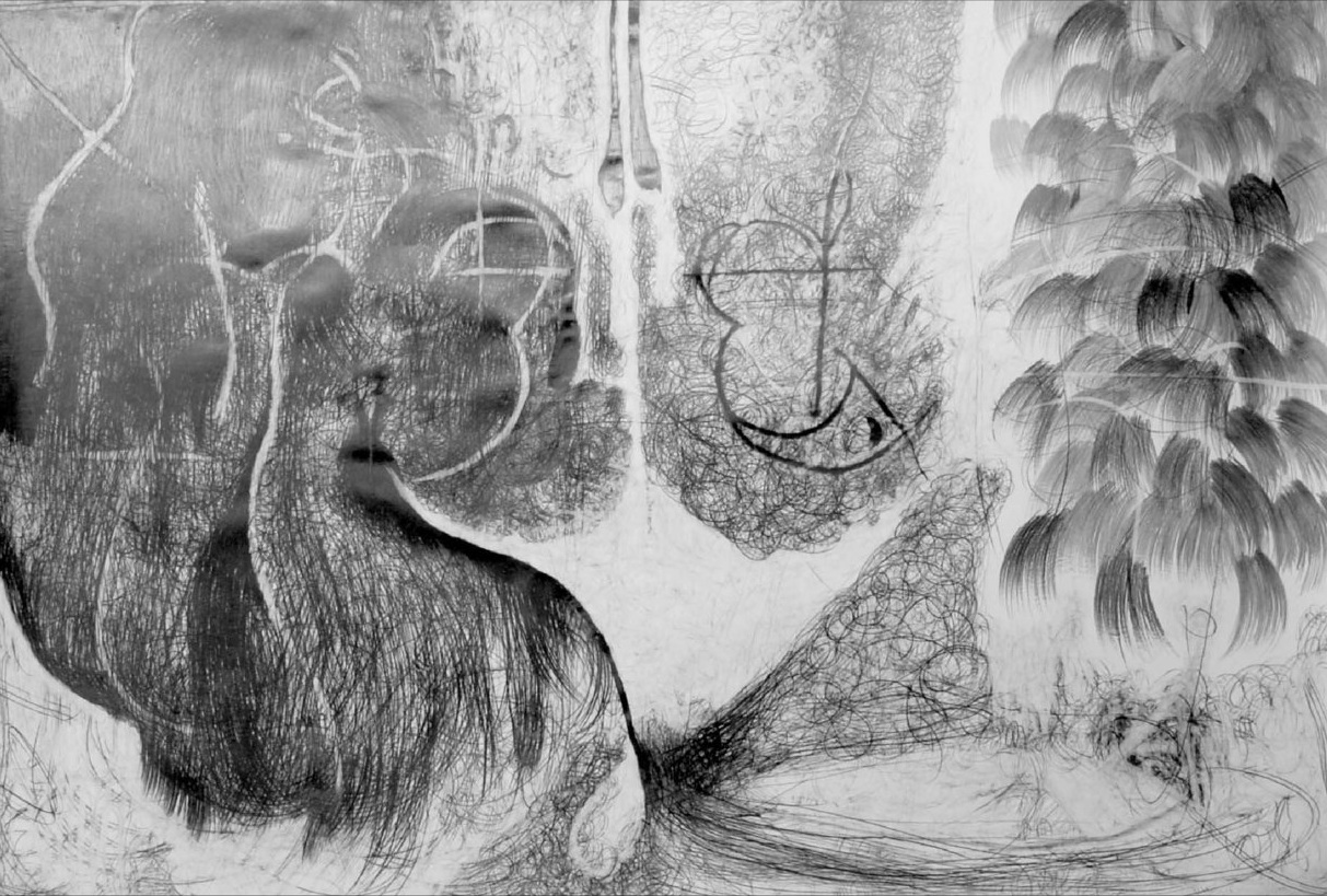O.T. ( schmrrhrr smblsm ), 2006  Bleistift auf Papier, 200x260cm
