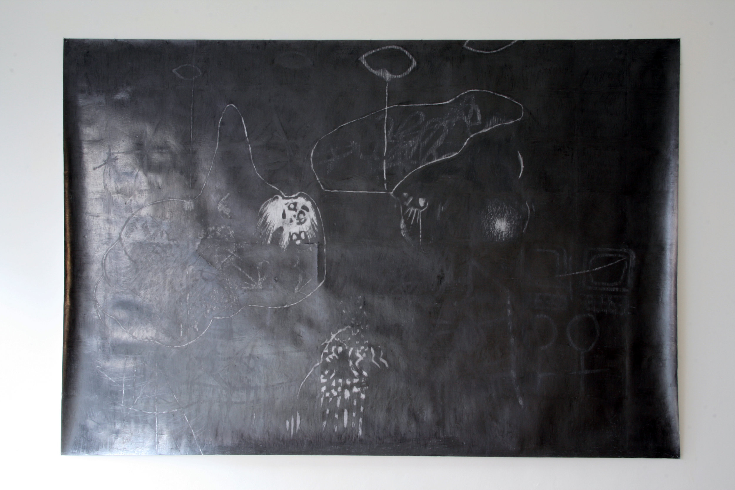 O.T. ( ylmz gtter ), 2008  Bleistift auf Papier, 200x300cm