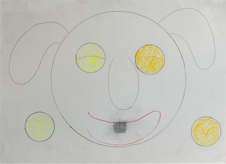O.T. ( Person ), 2007  Bleistift Buntstift auf Papier, 50x70cm