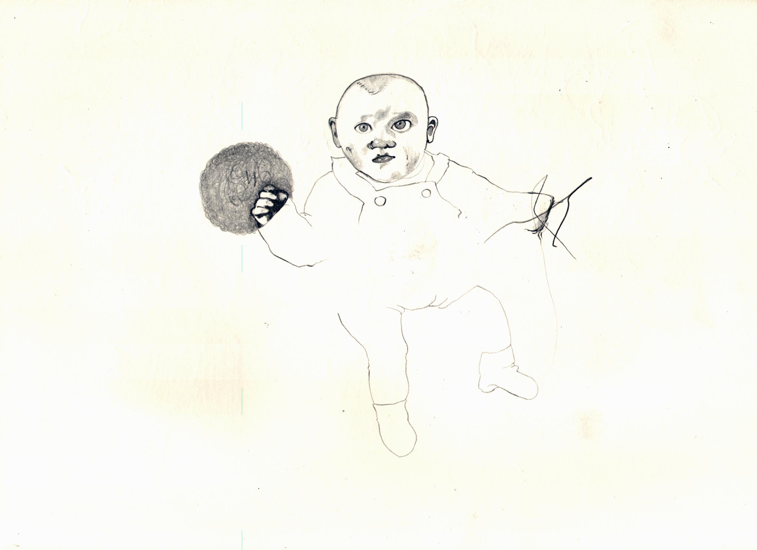 O.T. ( 2blle ), 2005  Bleistift auf Papier, 26.5x35cm