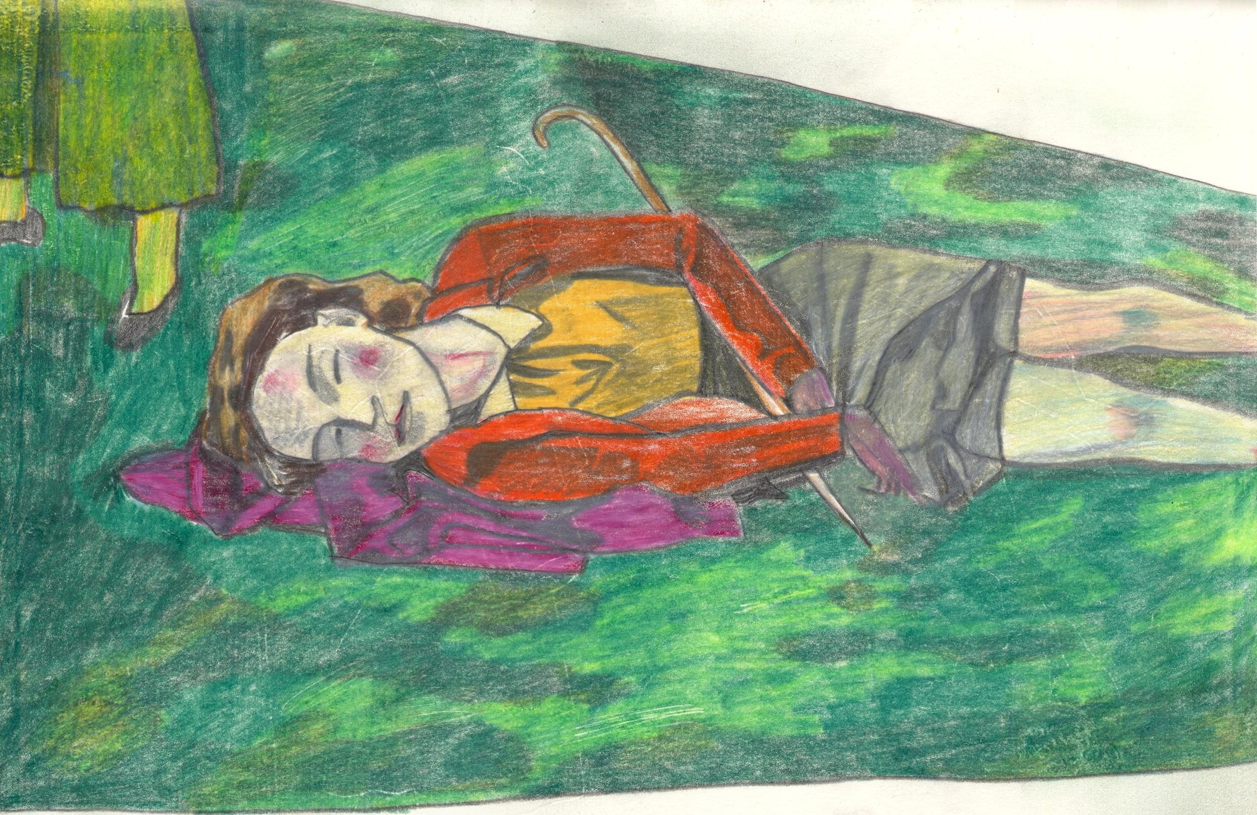 O.T. ( Serie Balthus 11 ), 2019  Bleistift auf Papier, 26x35.5cm