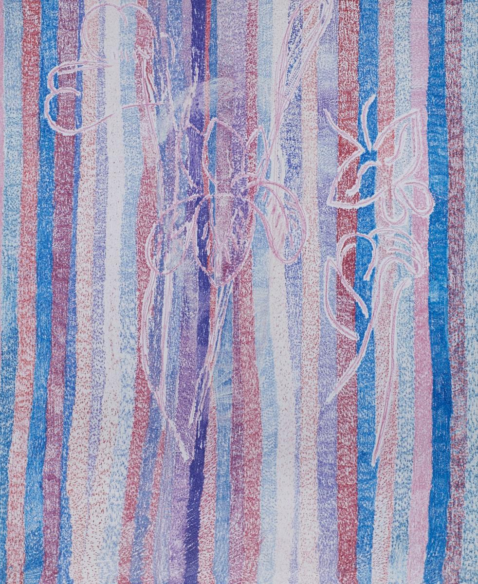 O.T. ( Shunga Flowers ), 2017  Buntstift Papier, 260x200cm