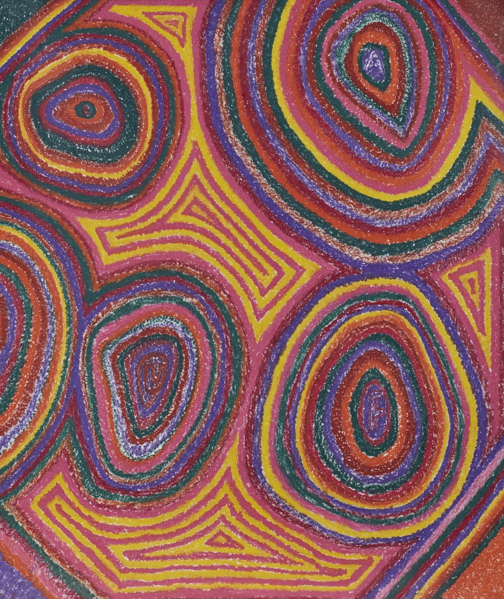 O.T. ( Australia ), 2017  Buntstift auf Papier, 260x200cm