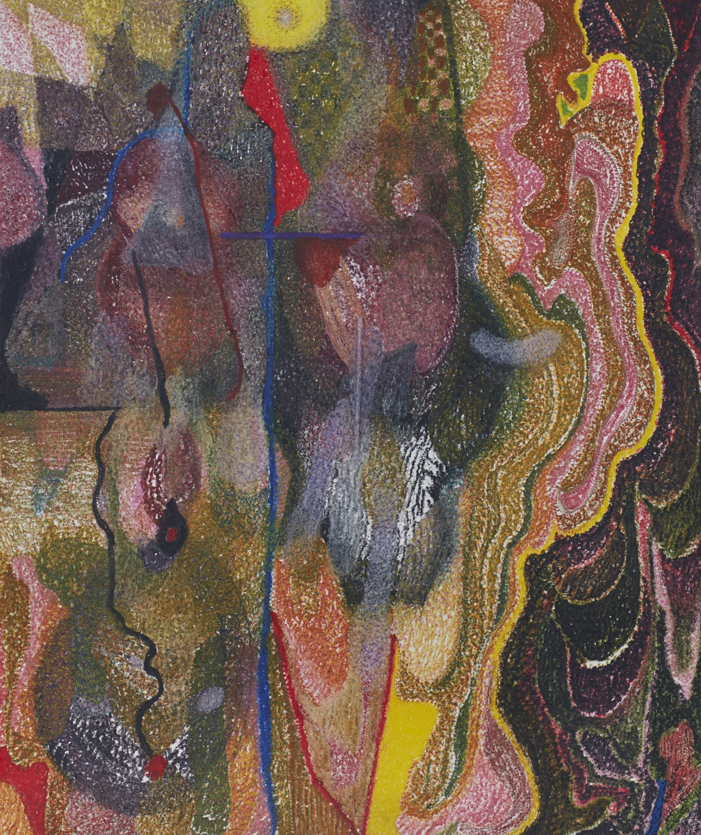 O.T. ( abstrakt ), 2018  Buntstift auf Papier, 150x180cm