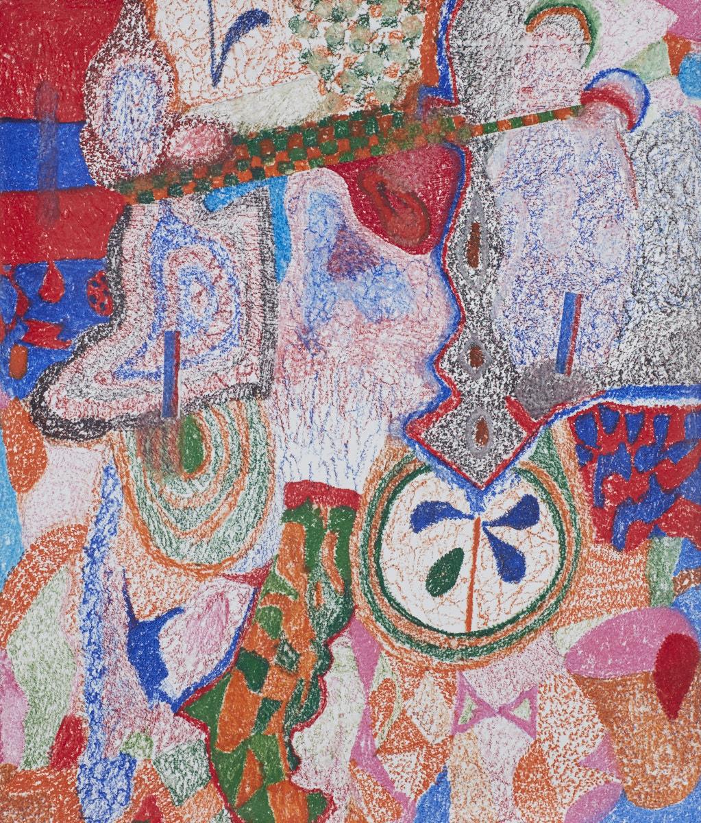 O.T. ( Mozambique Primal Scream IV ), 2018  Buntstift auf Papier, 150x180cm