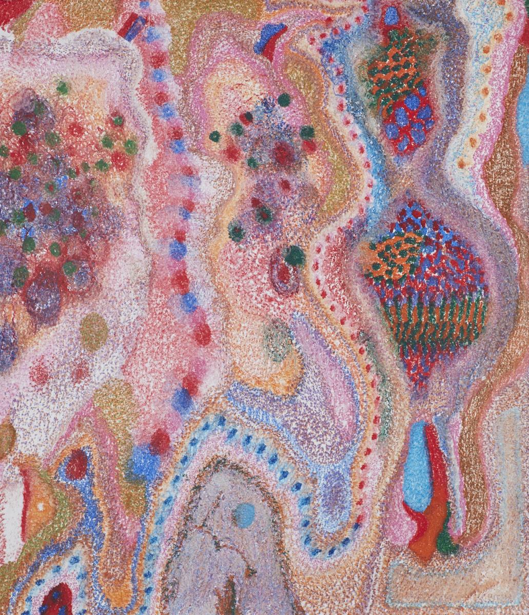 O.T ( Mozambique Primal Scream I ), 2018  Buntstift auf Papier, 150x180cm