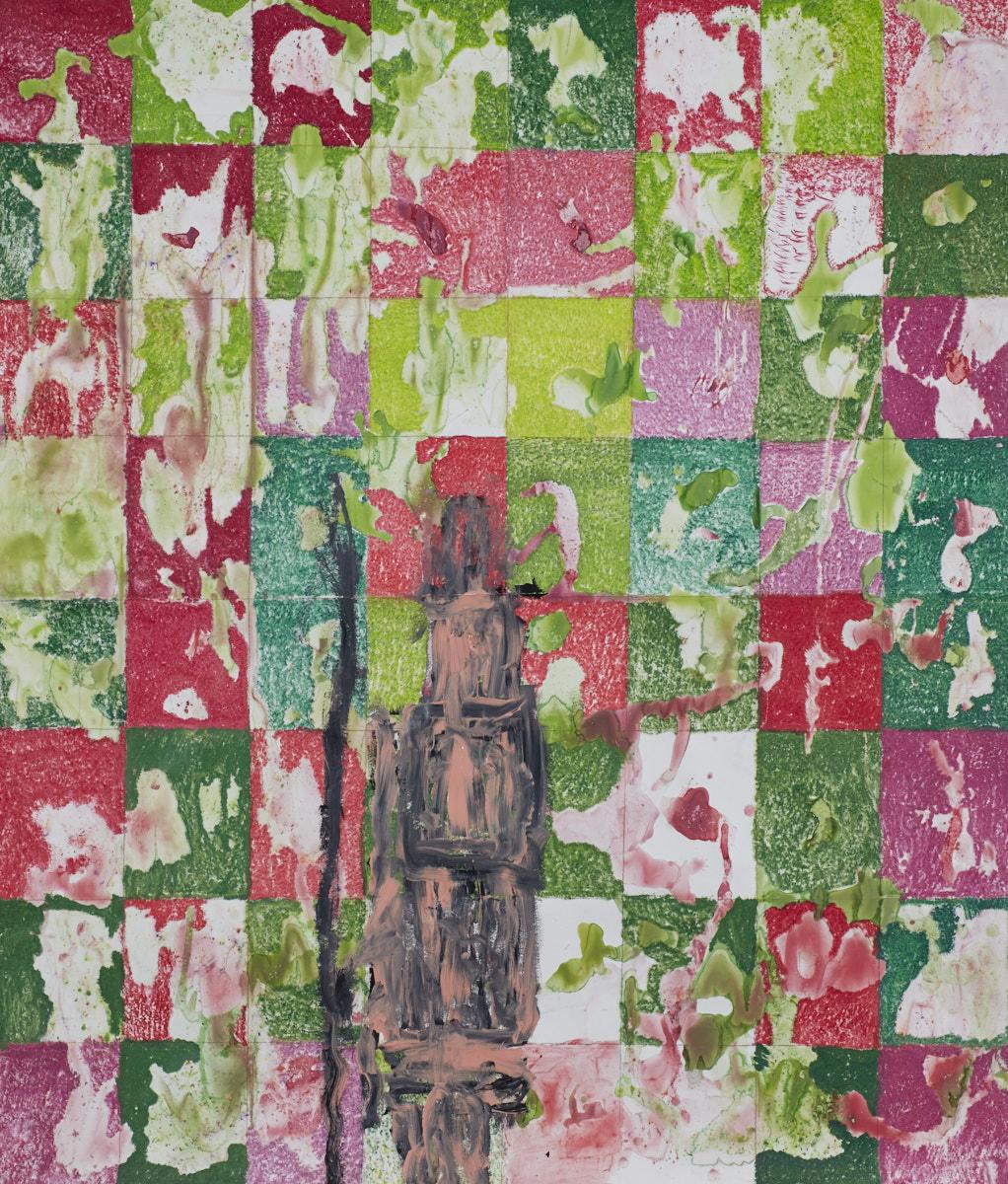 O.T., 2016  Buntstift Acryl auf Papier, 150x180cm