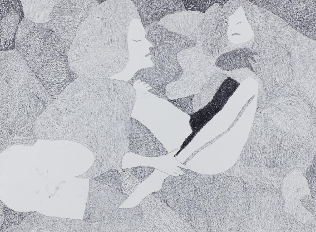 O.T. ( Leonor Fini Praphrase ), 2018  Bleistift auf Papier, 125x150cm