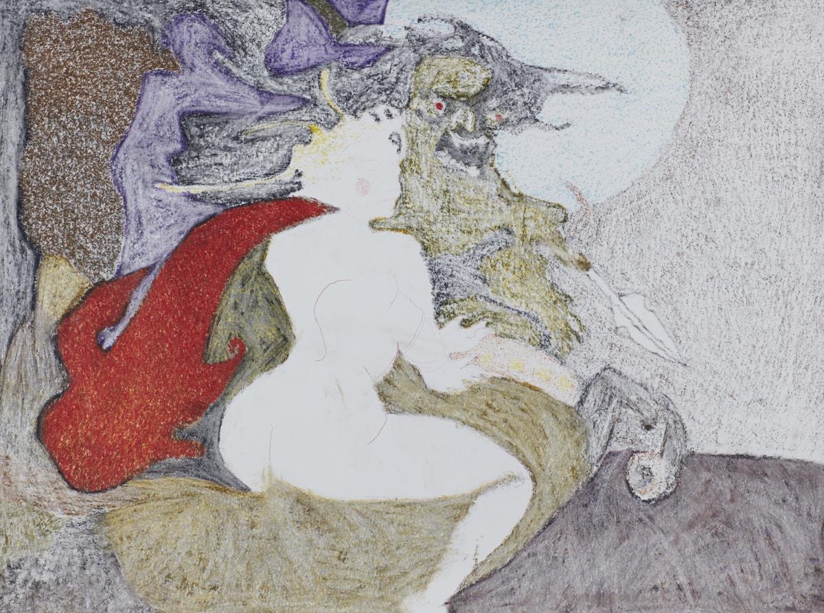 O.T. ( Fantasy  I), 2018  Bleistift Buntstift Papier, 125x150cm