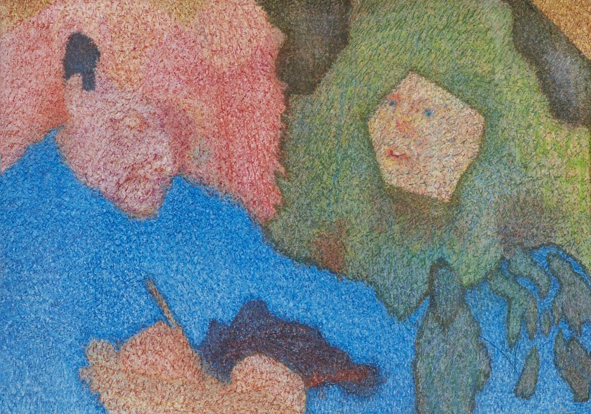 O.T. ( Strömungskarte ), 2015  Buntstift auf Papier, 150x125cm
