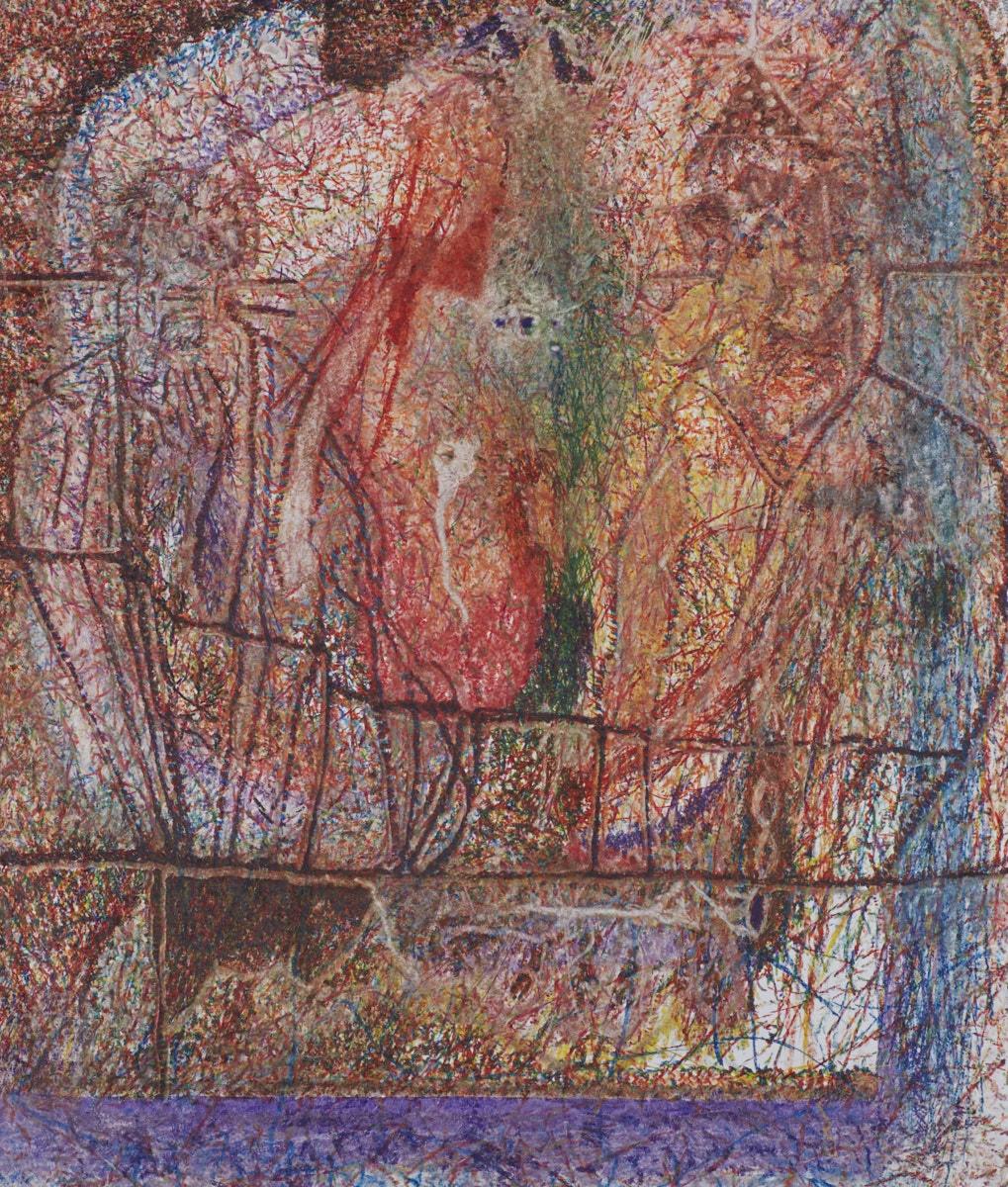 O.T. ( Zwei Männer ), 2016  Buntstift auf Papier, 125x150cm