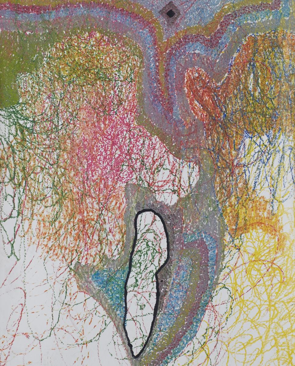 O.T. ( Konstellation ), 2017  Buntstift auf Papier, 125x150cm