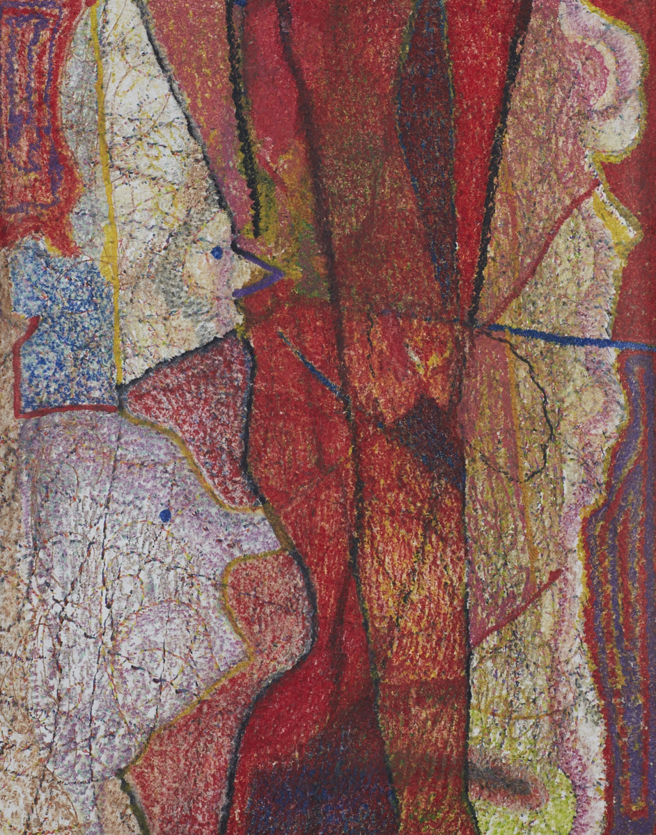 O.T. ( Kirchenfenster Entwurf) , 2018  Buntstift auf Papier, 125x150cm