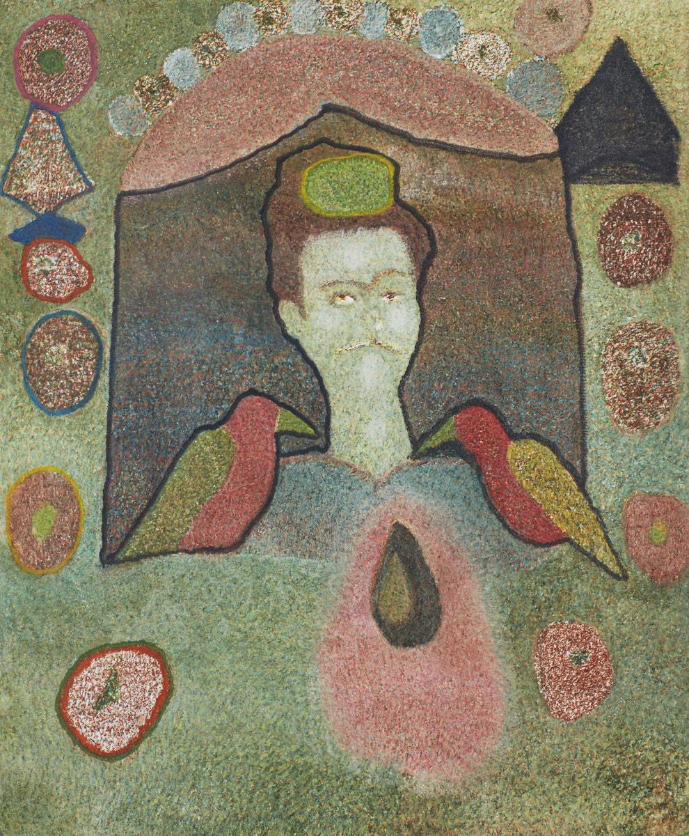 O.T. ( Frida Kahlo ), 2016  Buntstift auf Papier, 125x150cm