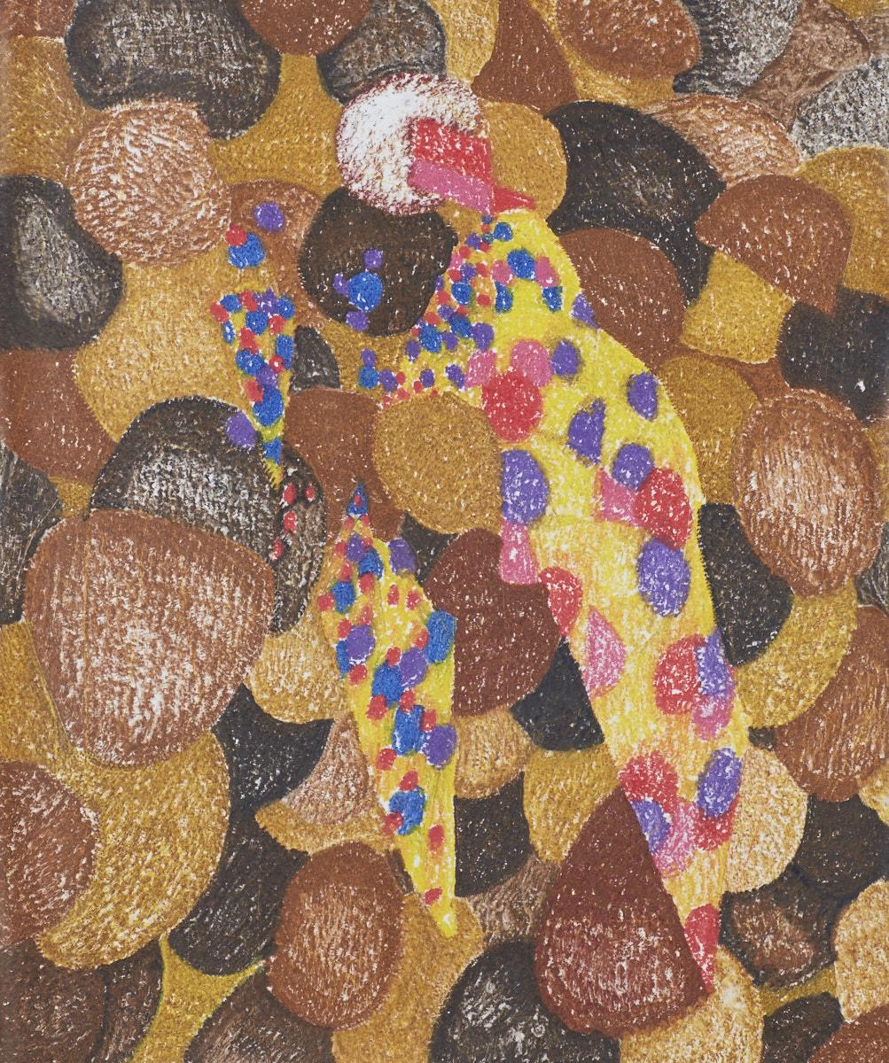 O.T. ( In der Eisdiele ), 2018  Buntstift auf Papier, 125x150cm