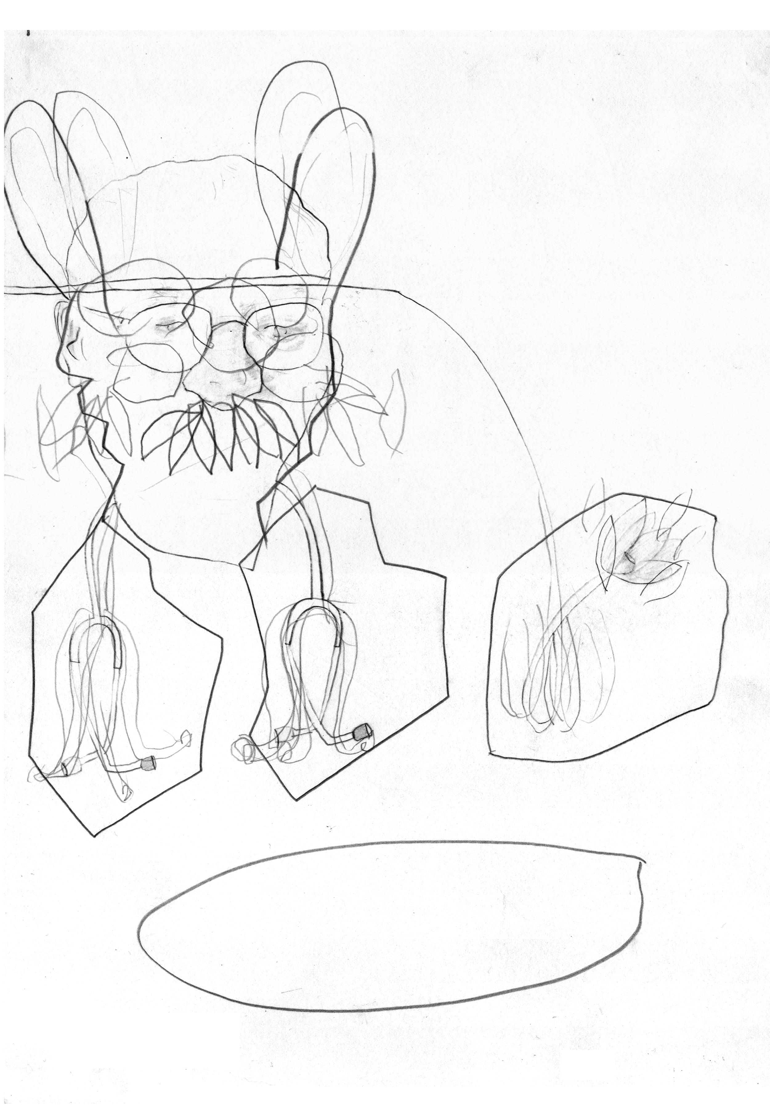 O.T ( dr united 2 ), 2005  Bleistift Papier, 37x47cm