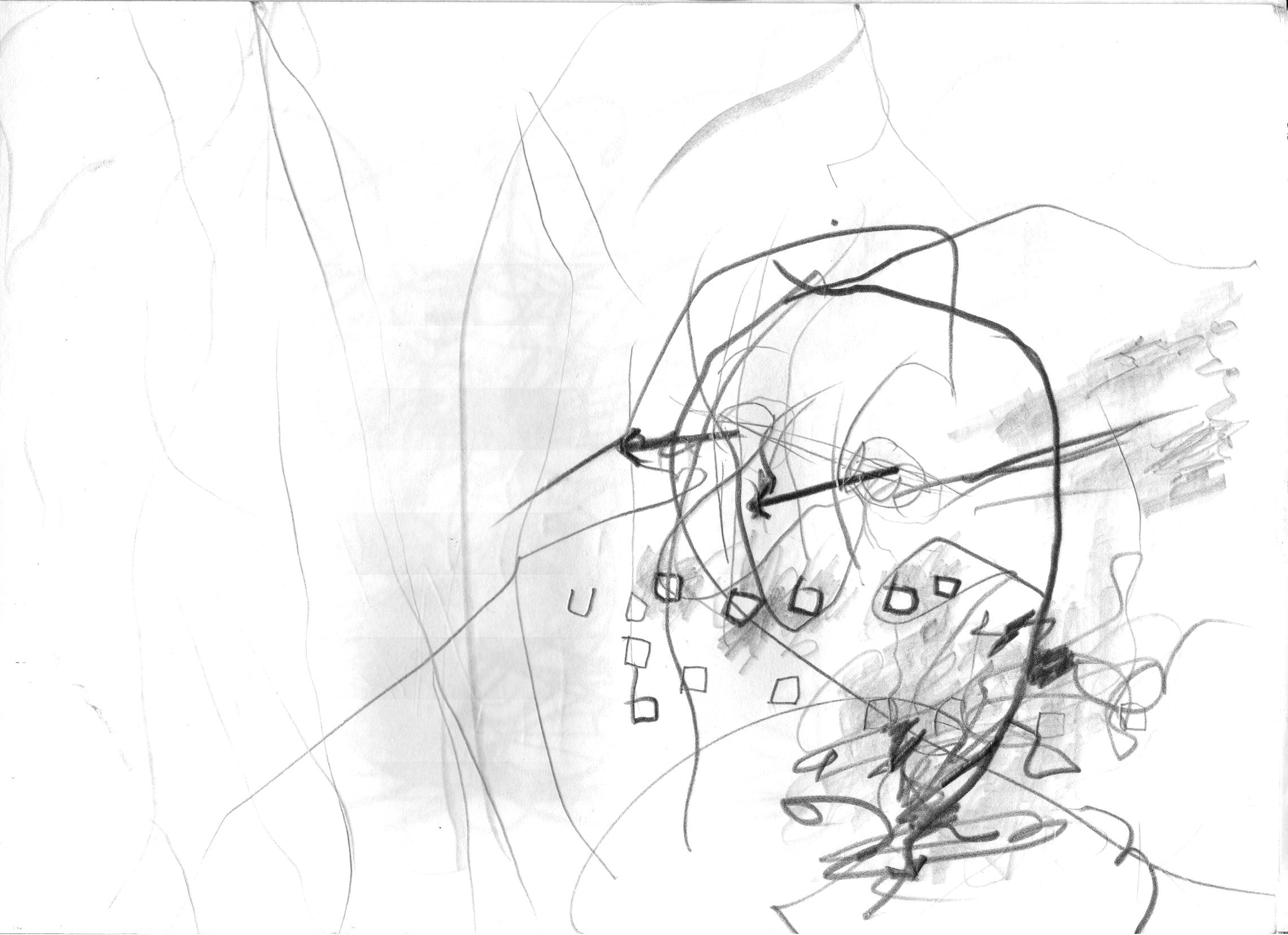 O.T.(  ab ), 2005  Bleistift auf Papier, 29.8x21cm